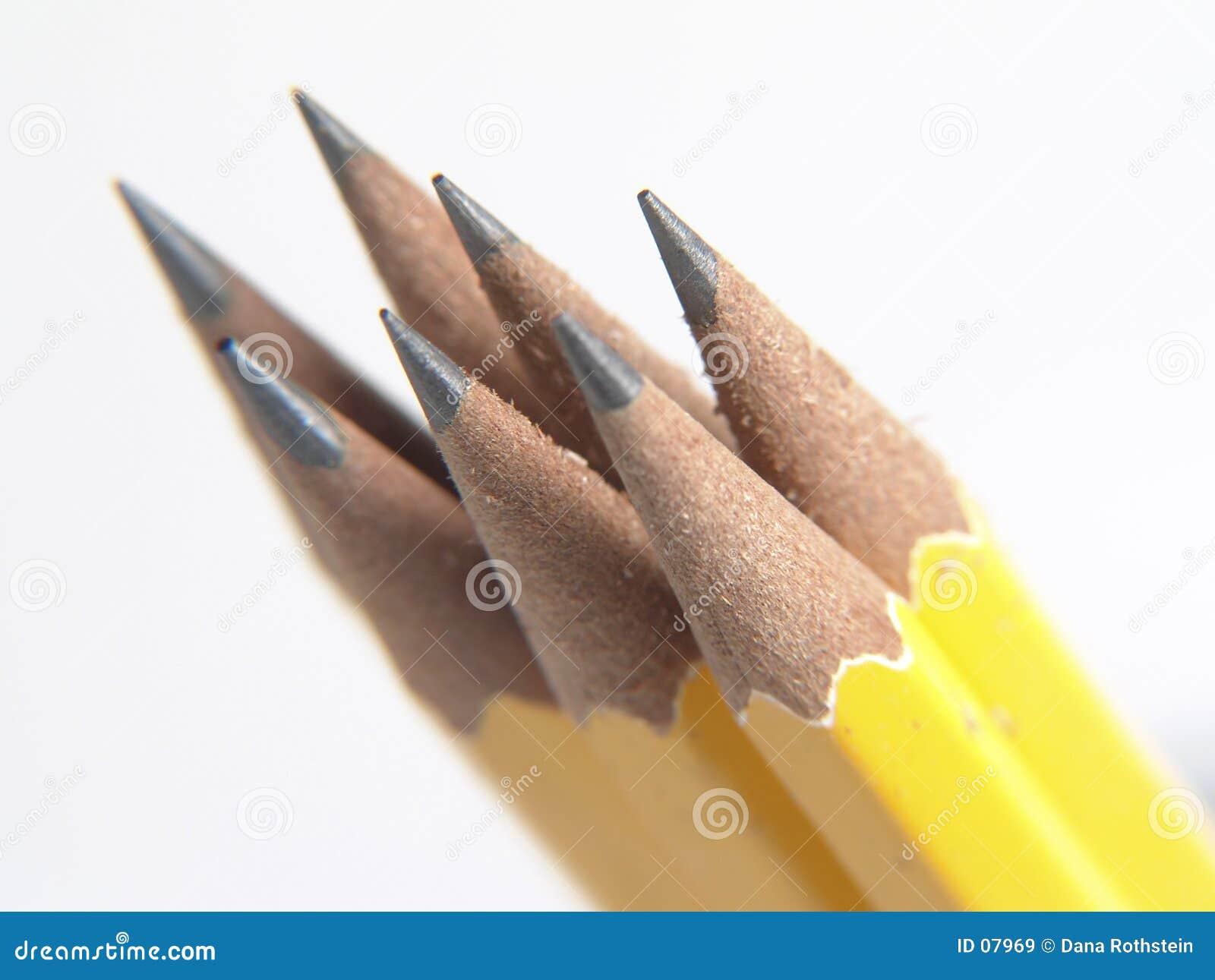 Vässade blyertspennor