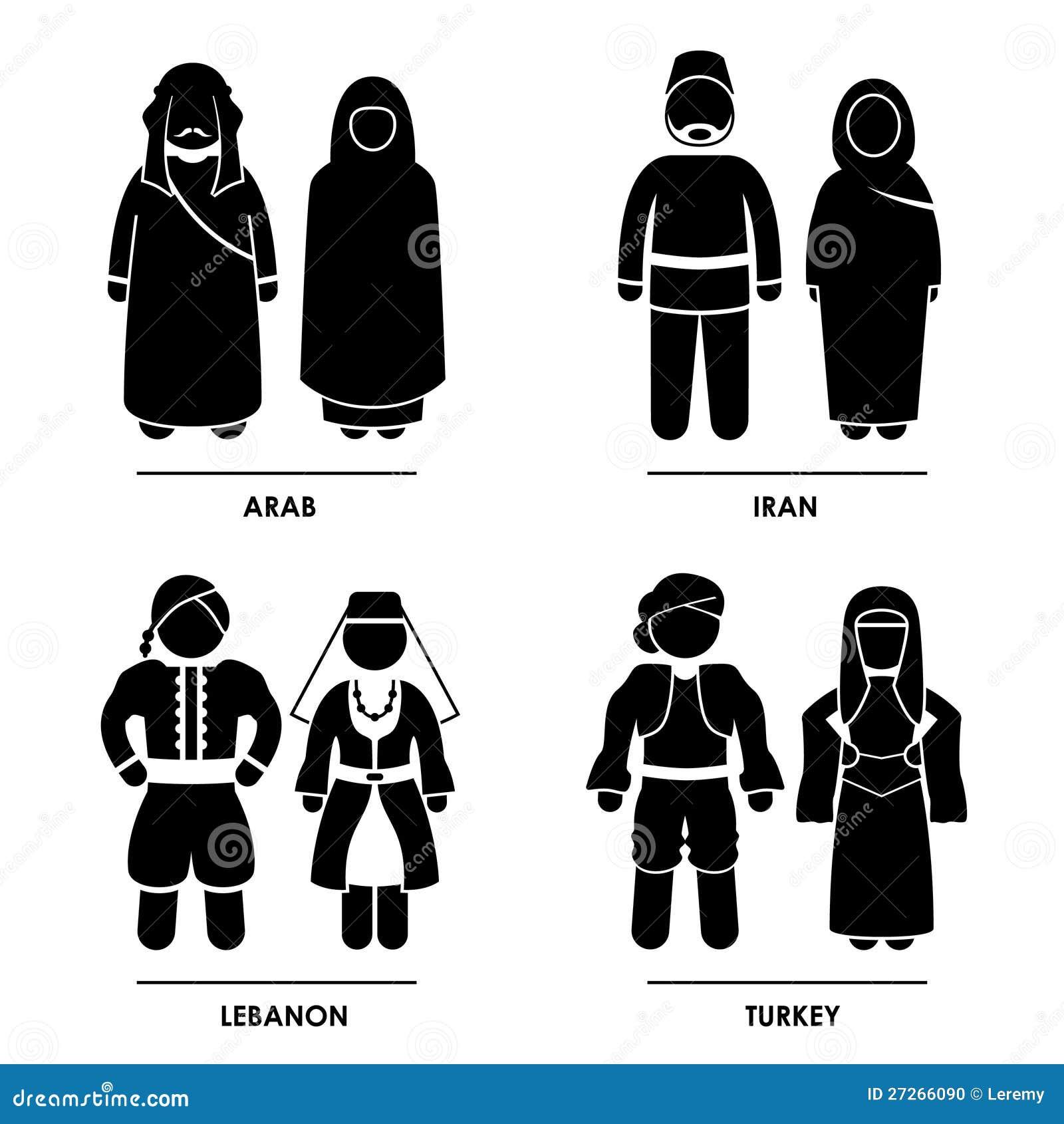 Västra Asien som Clothing dräkten