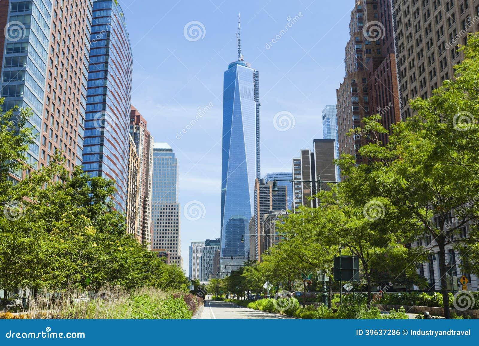 Västra gata och World Trade Center, New York