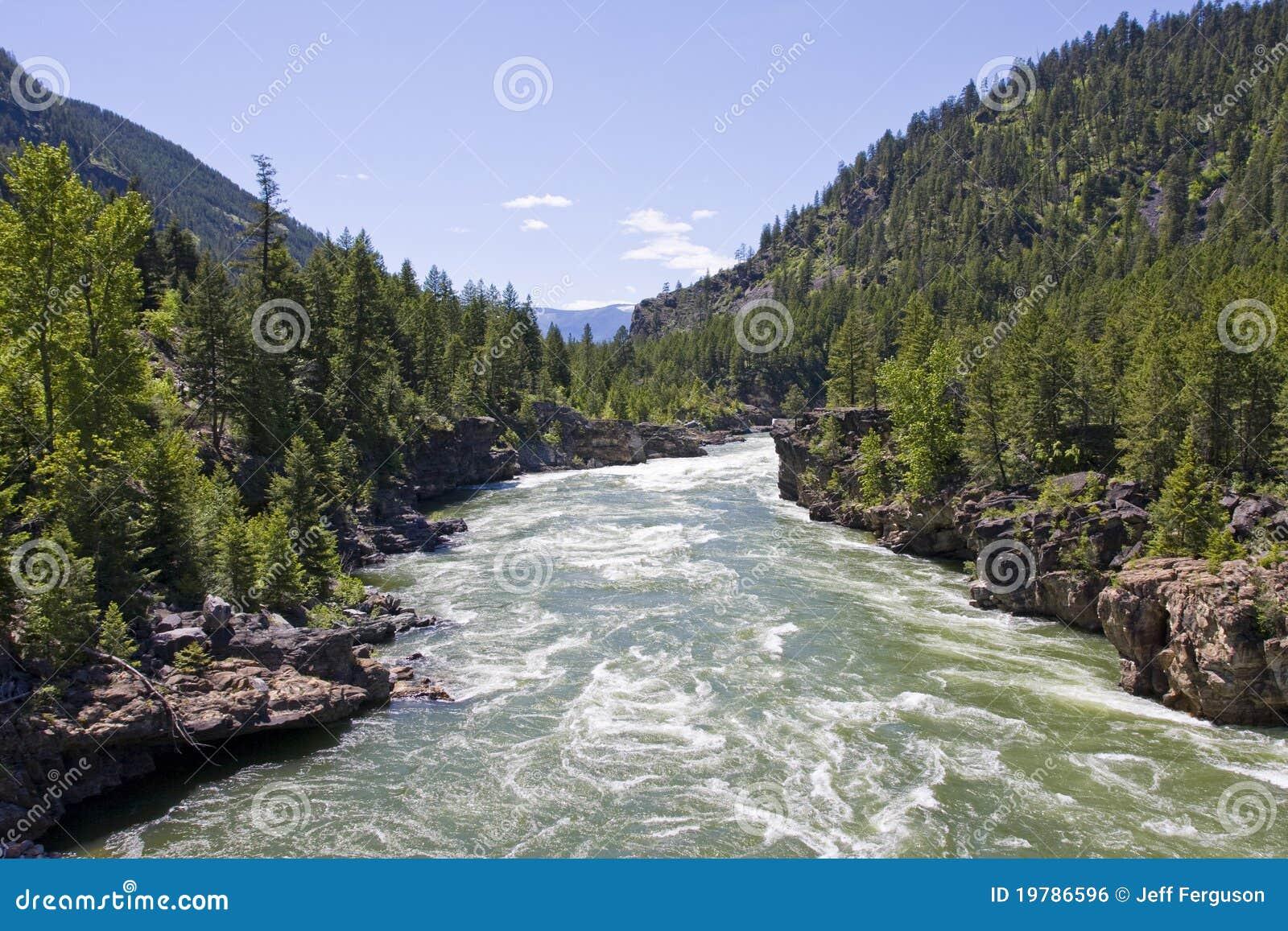 Västra kootenaimontana norr flod