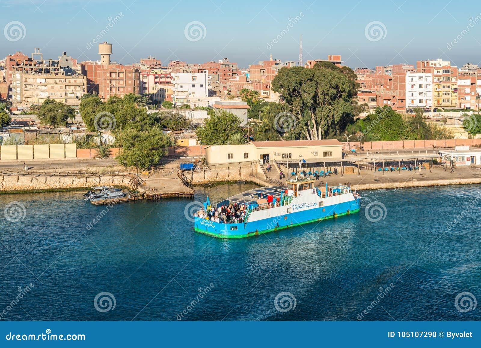 Västra Qantara färja i Egypten