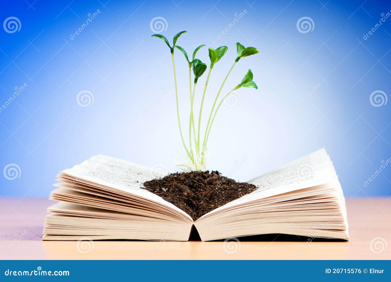 Växande plantor för bok