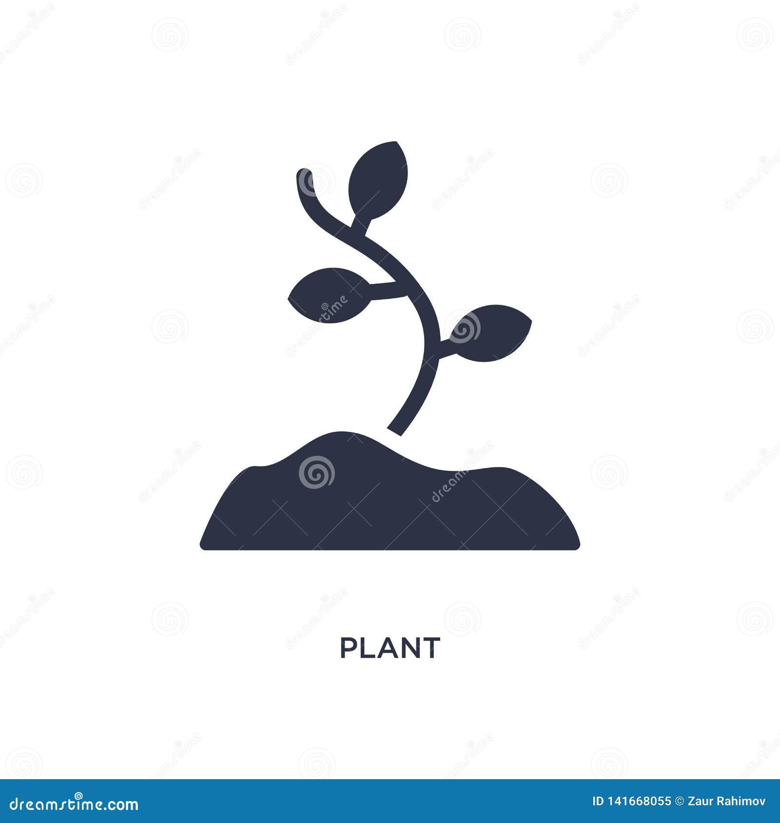 Växtsymbol på vit bakgrund Enkel beståndsdelillustration från begrepp för stenålder