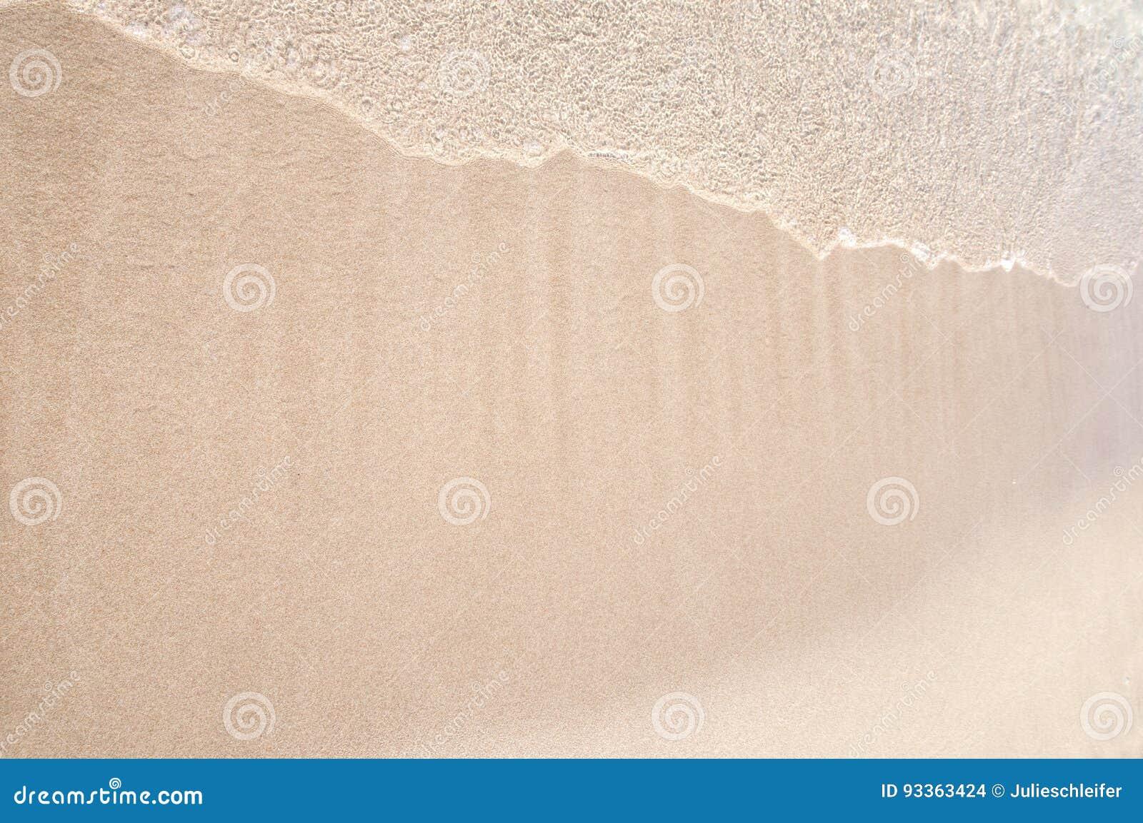 Våg på vit sand