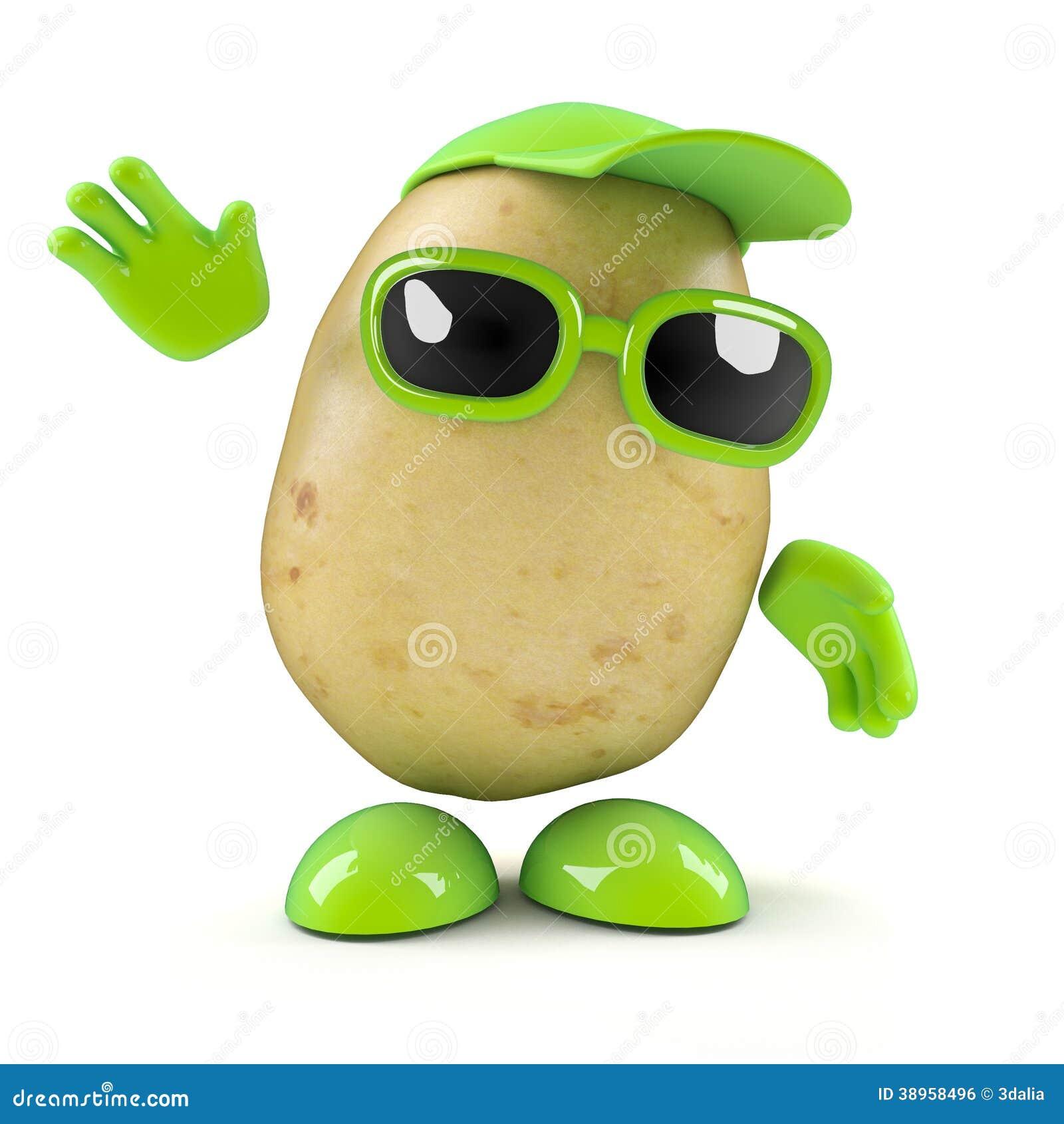Vågor för potatis 3d