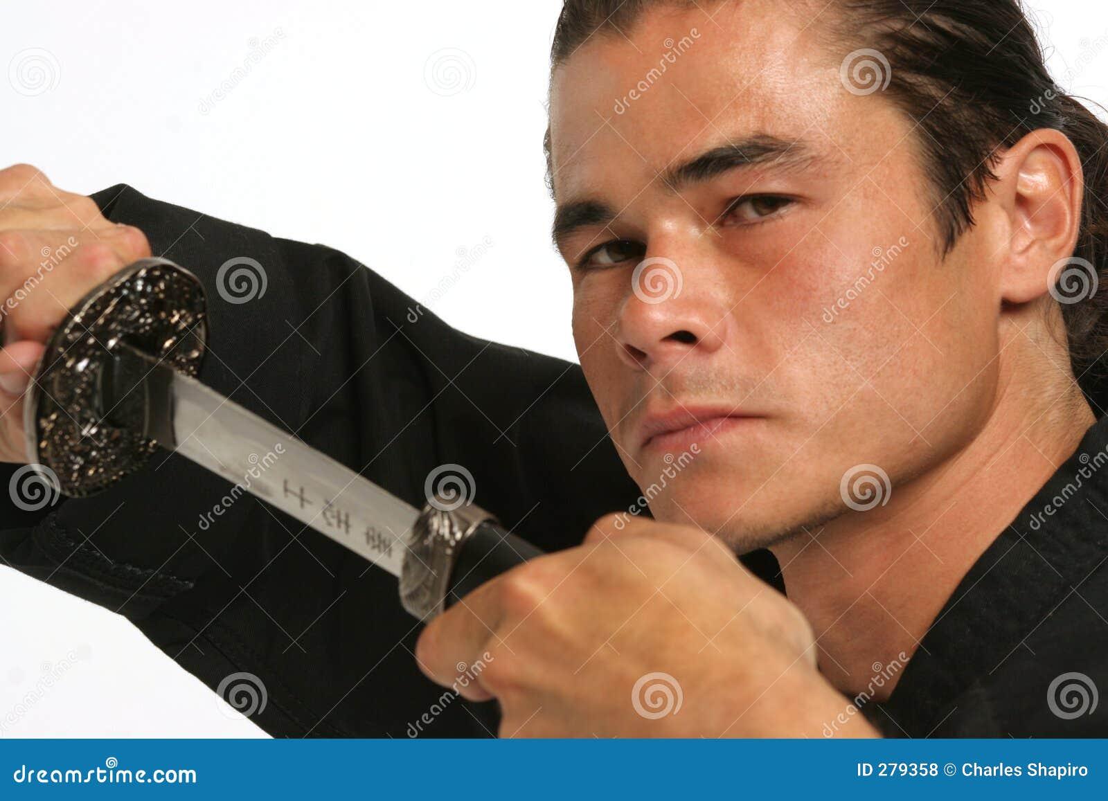 Våldsam look för blad över sharp