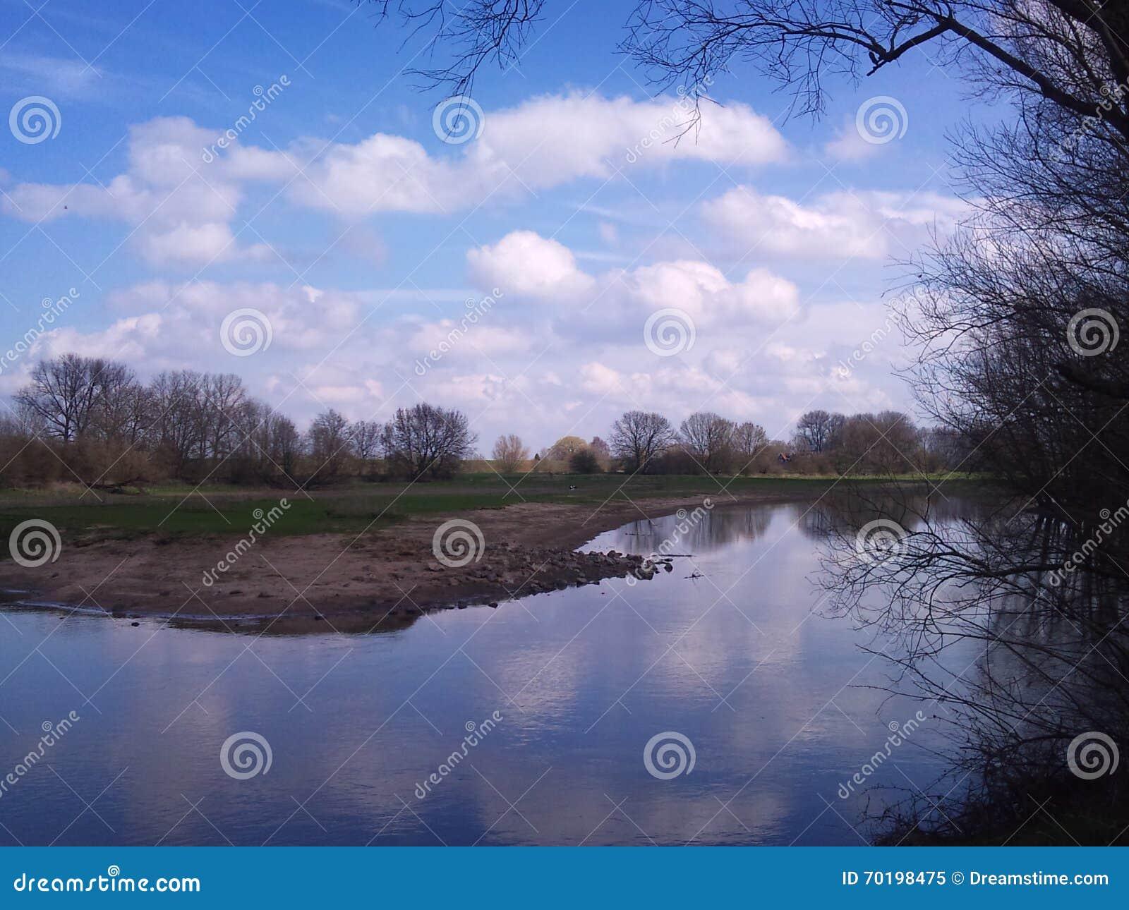 Vår i holländska floduddar