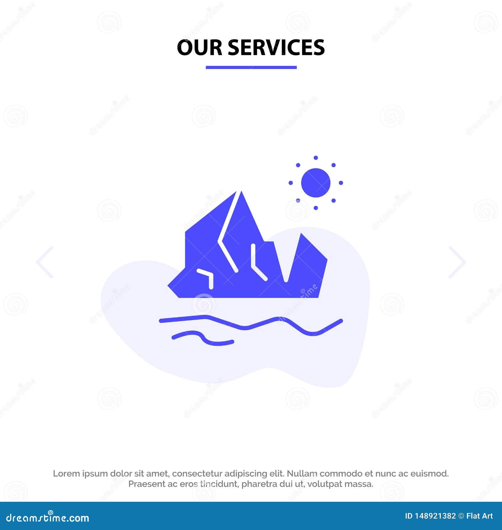 Vår serviceekologi, miljö, is, isberg, smältande fast mall för kort för skårasymbolsrengöringsduk