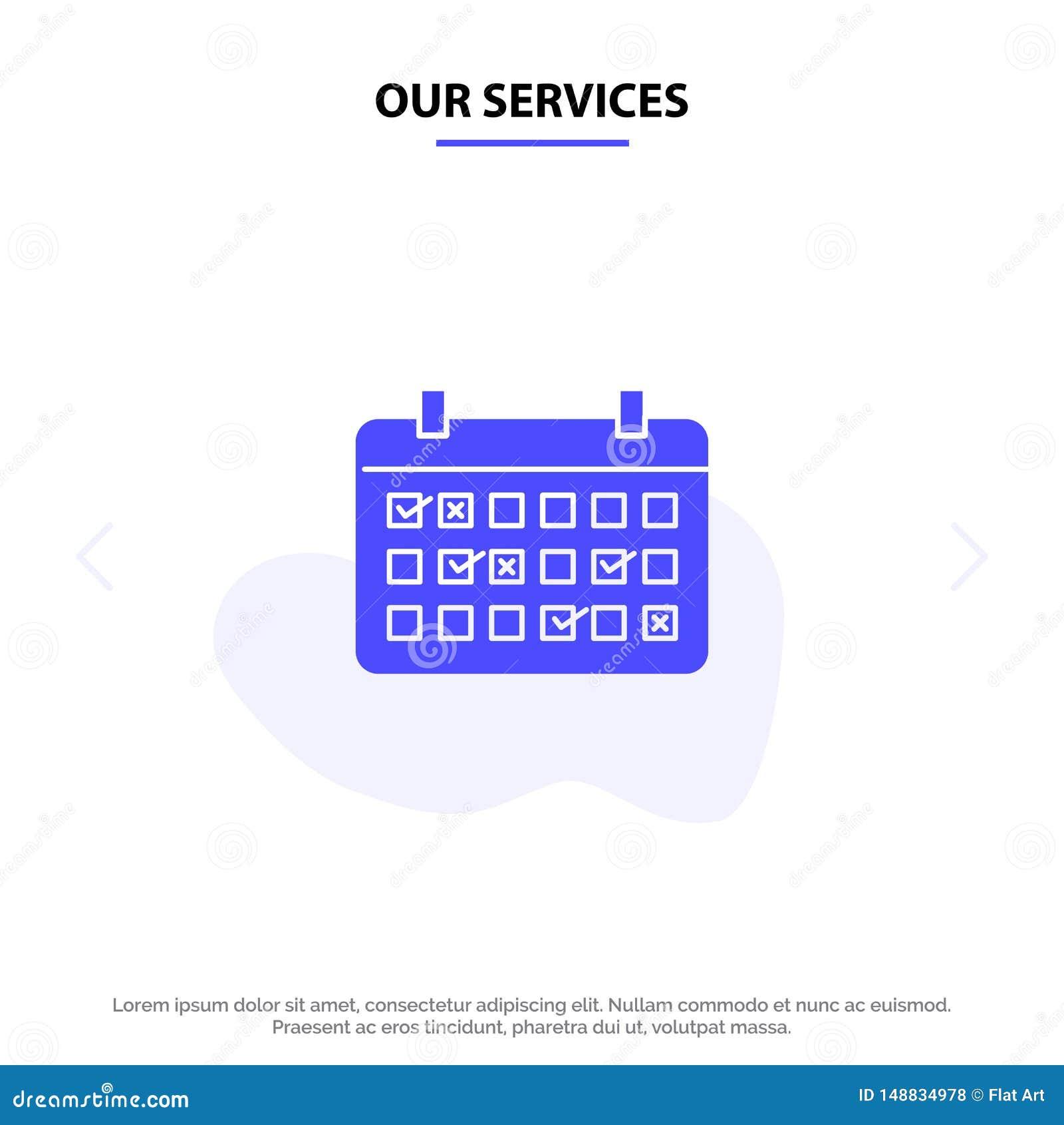 Vår servicekalender, datum, månad, år, mall för kort för rengöringsduk för Tid fast skårasymbol
