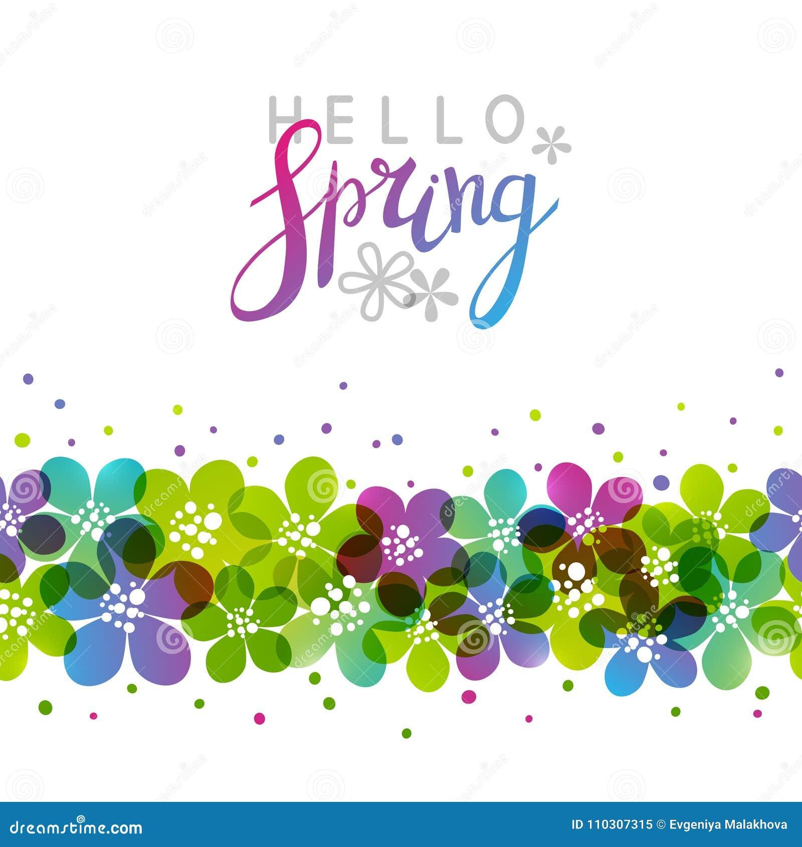 Vårbakgrund med vibrerande blommor