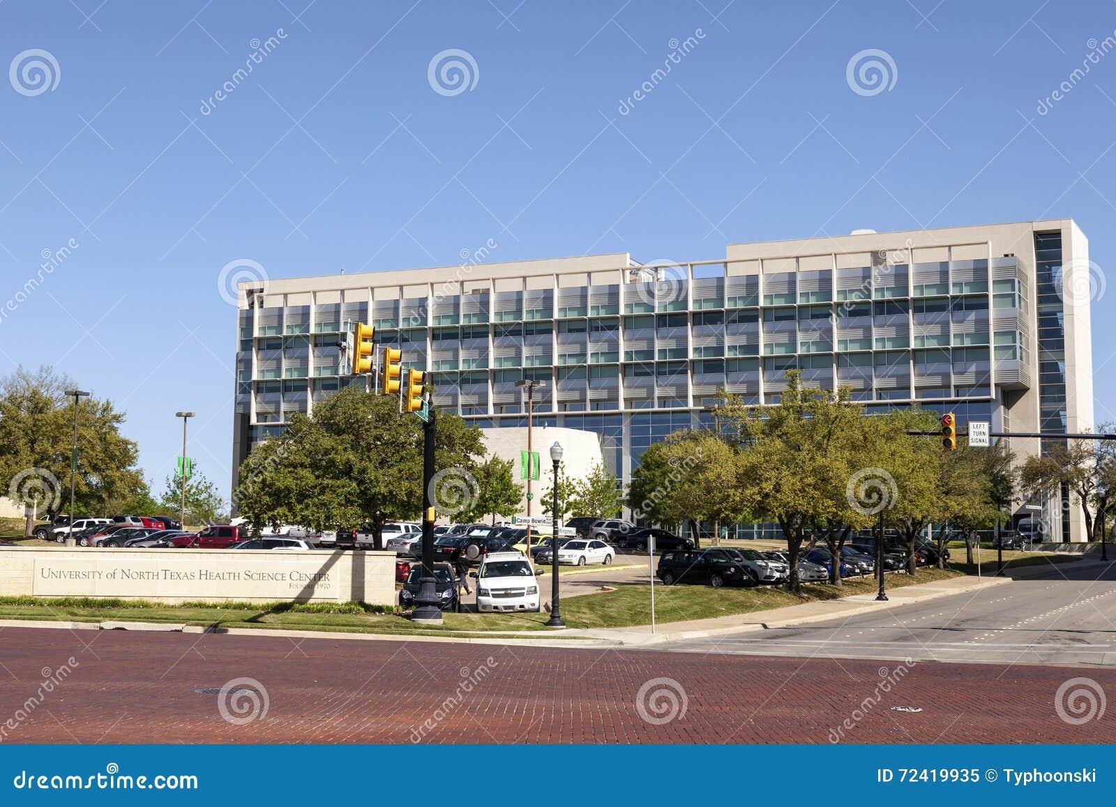 Vård- vetenskapsmitt för UNT i Fort Worth, TX, USA
