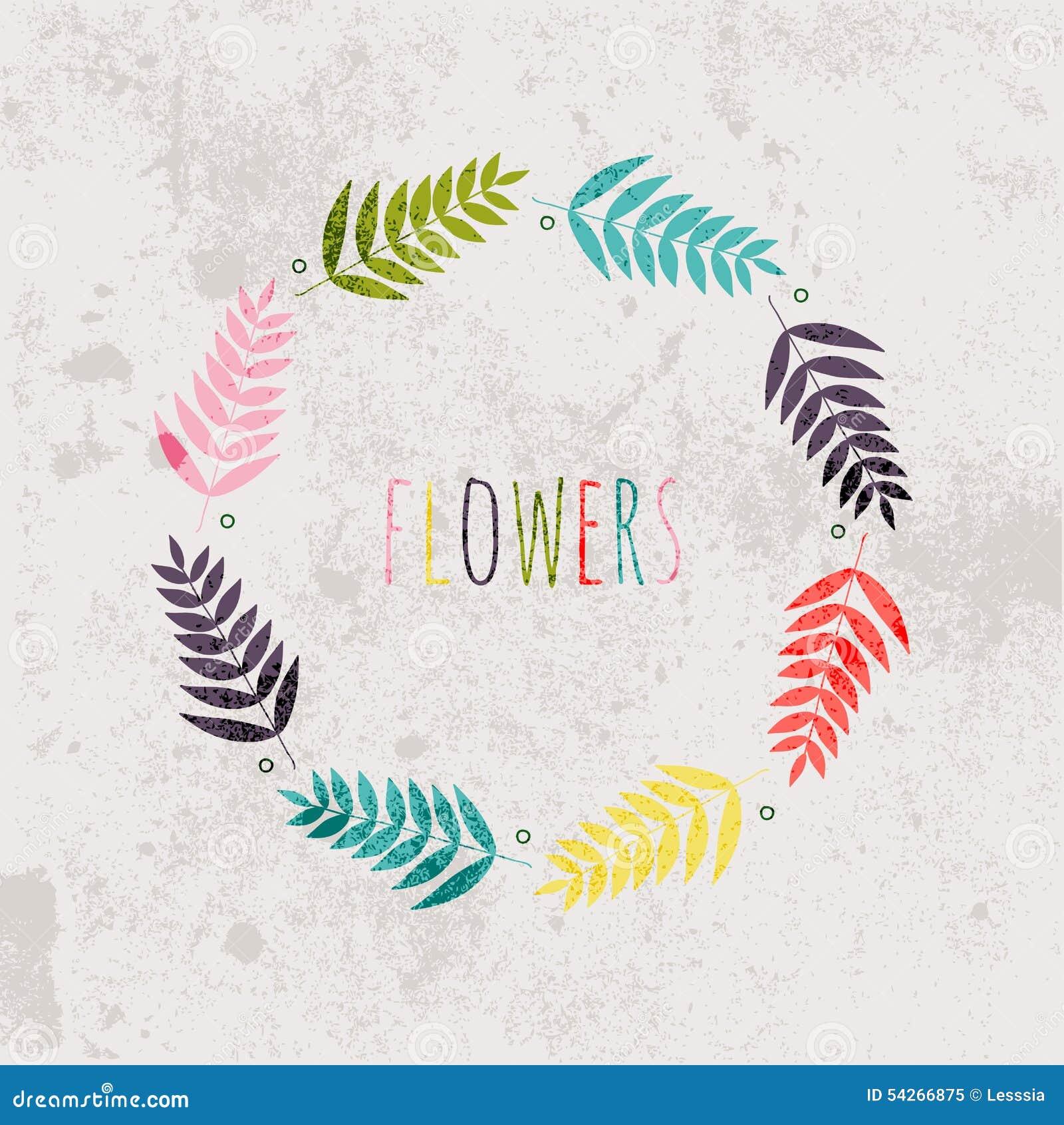 Våren blommar, sidor, maskrosen, gräs på en tappningbakgrund