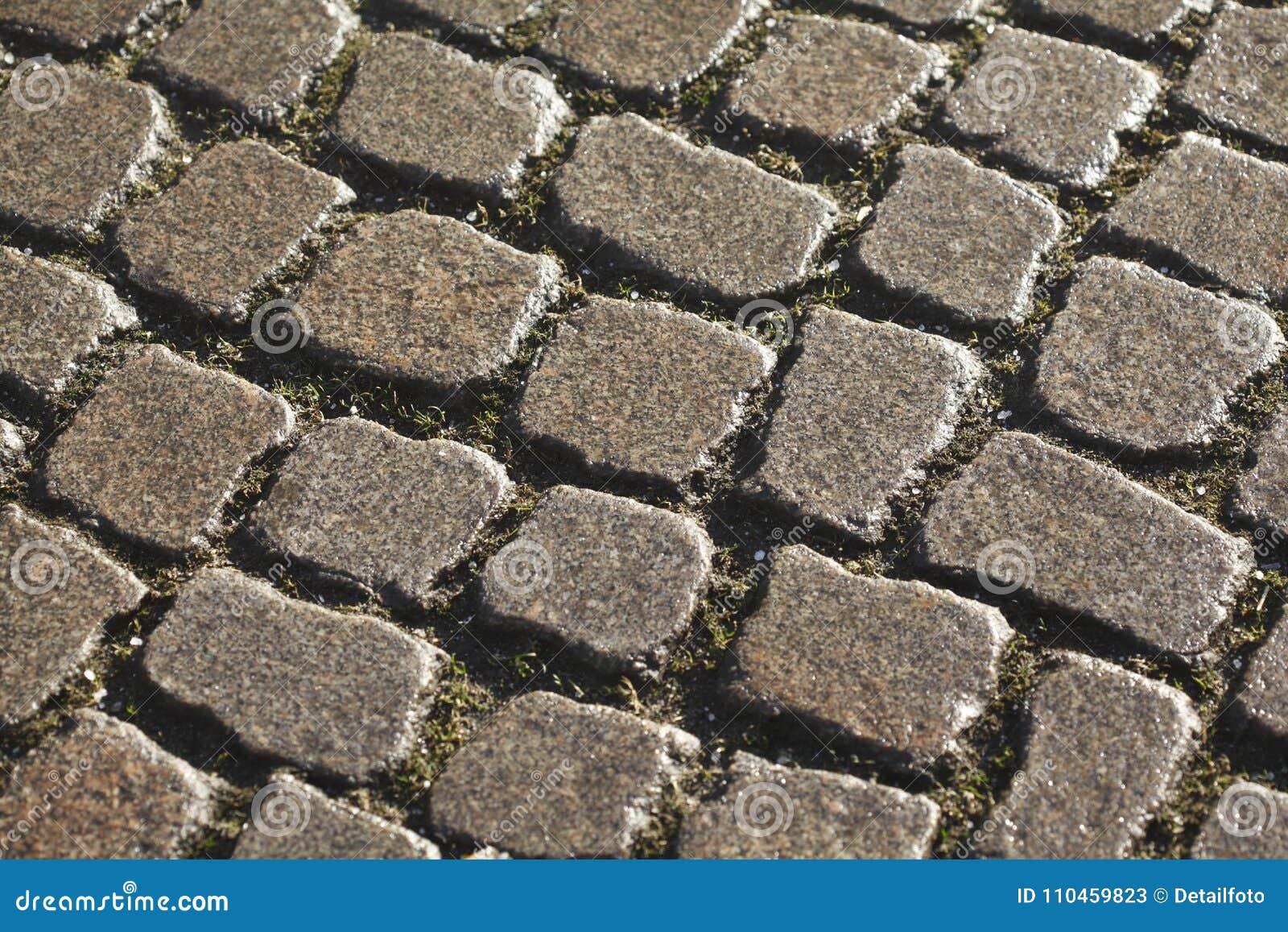 Våta blänka förberedande stenar