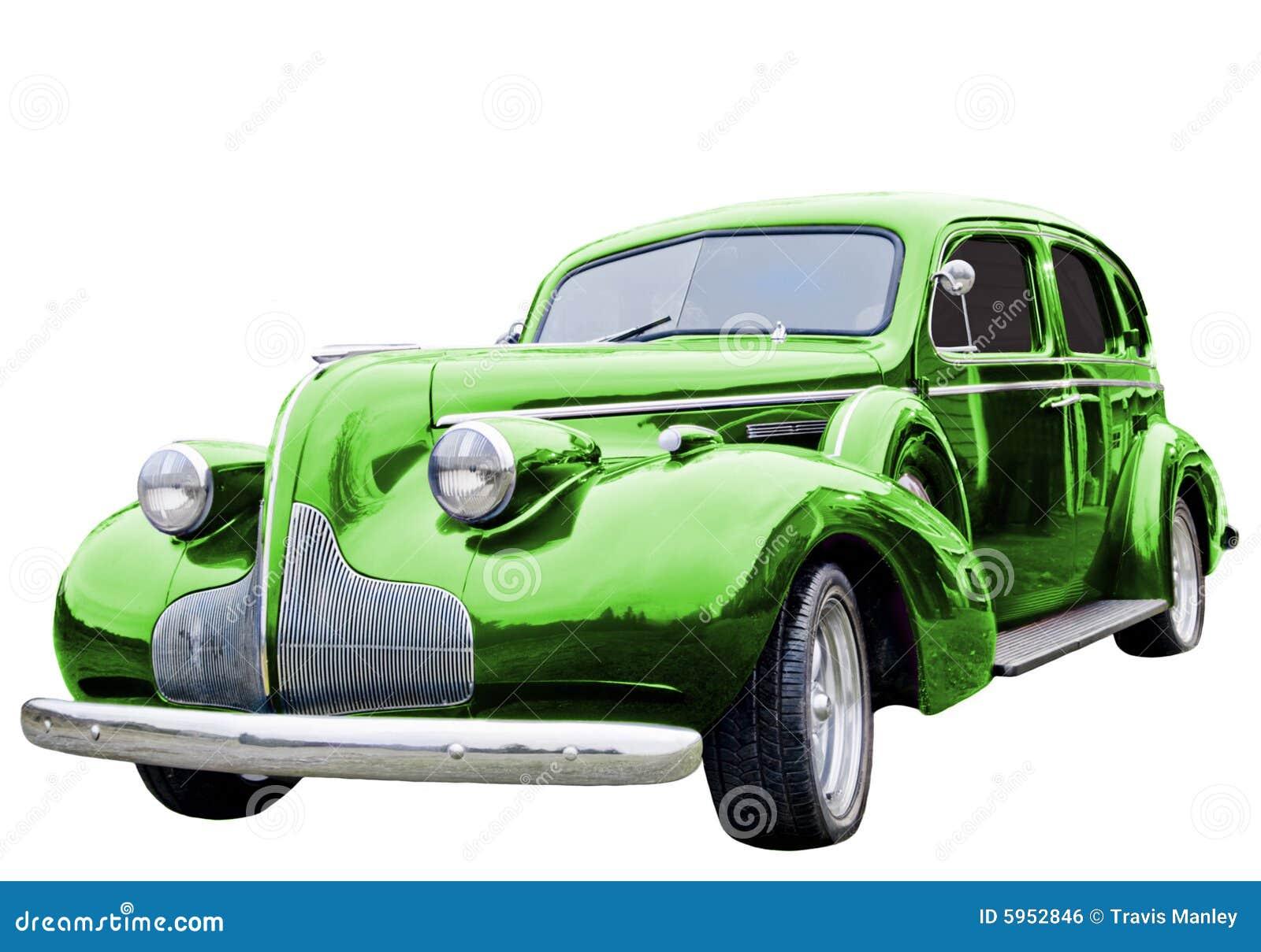 Véhicule classique vert