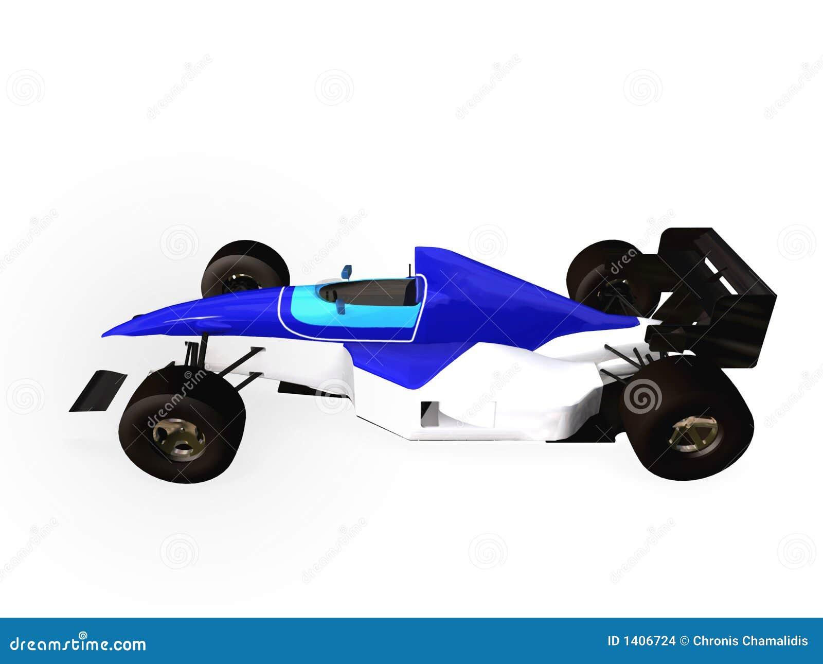 Véhicule d emballage F1 bleu vol. 1