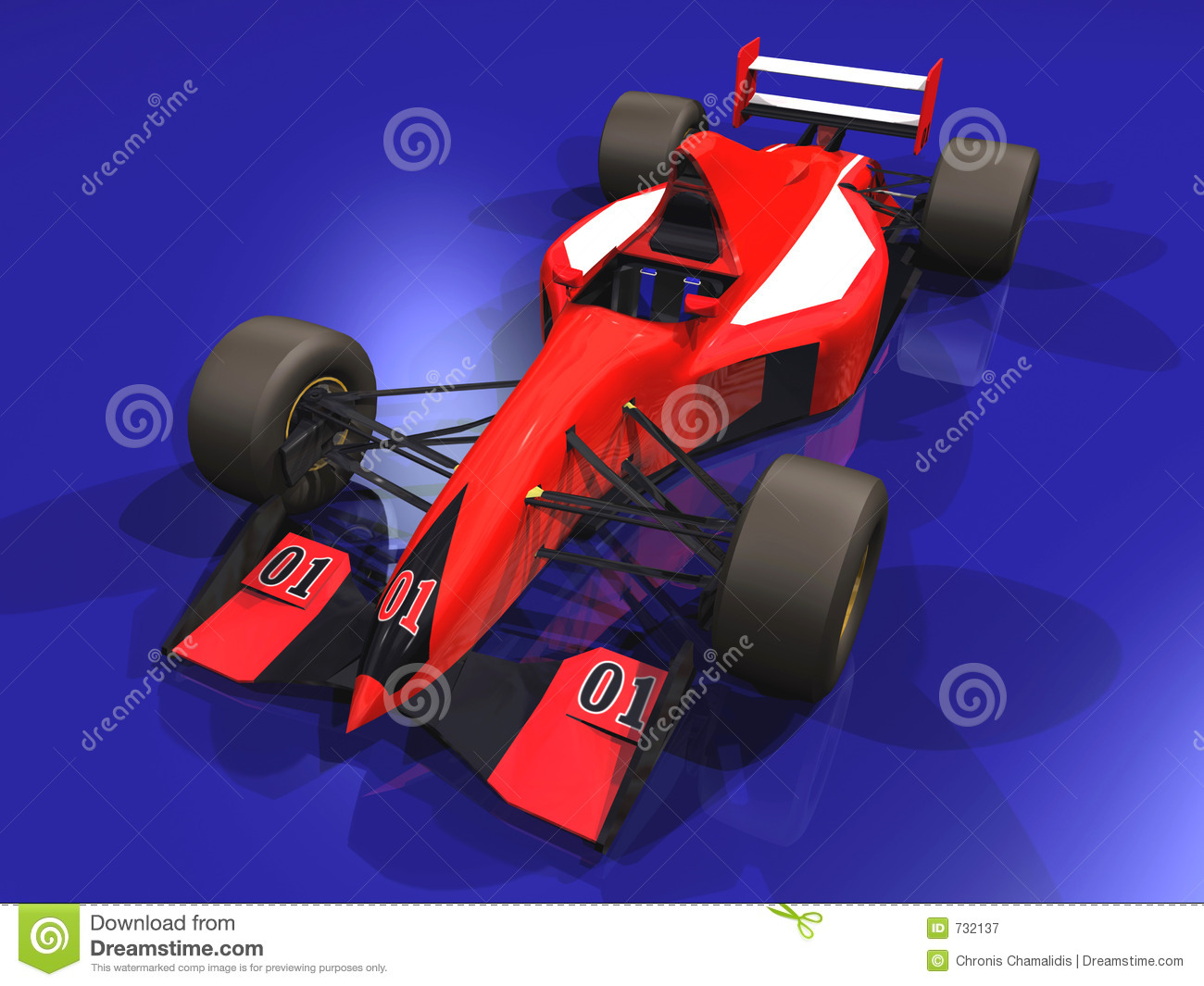 Véhicule d emballage F1 rouge vol. 1