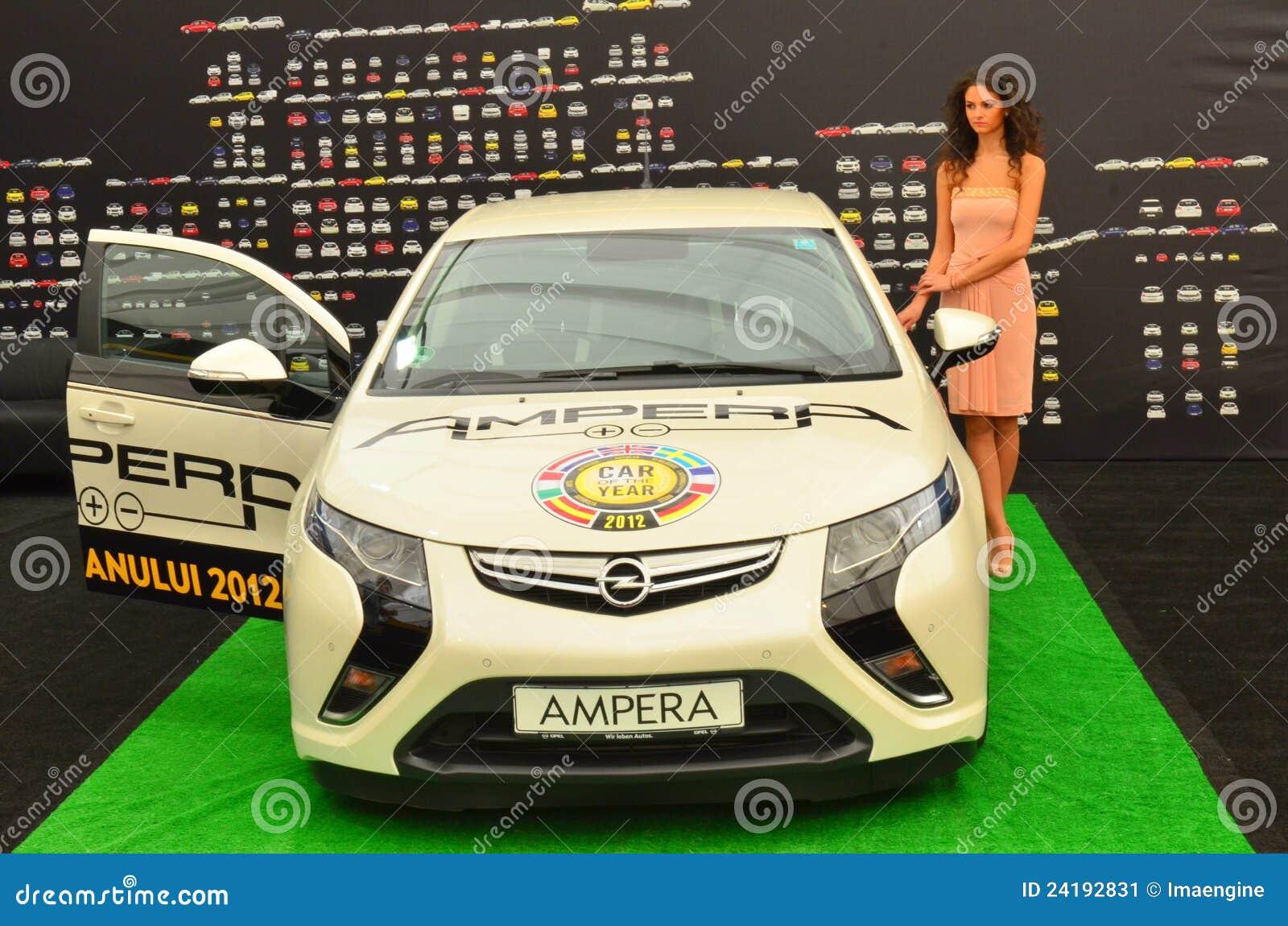Véhicule hybride d Opel Ampera à SIAMB 2012