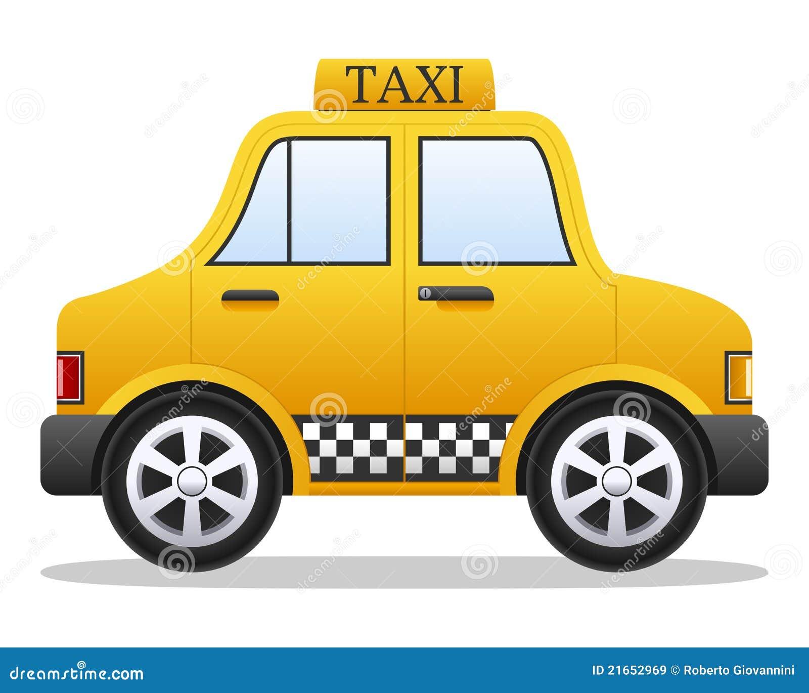 De Véhicule Jaune Taxi Animé Vecteur Illustration Dessin oWerdxCB