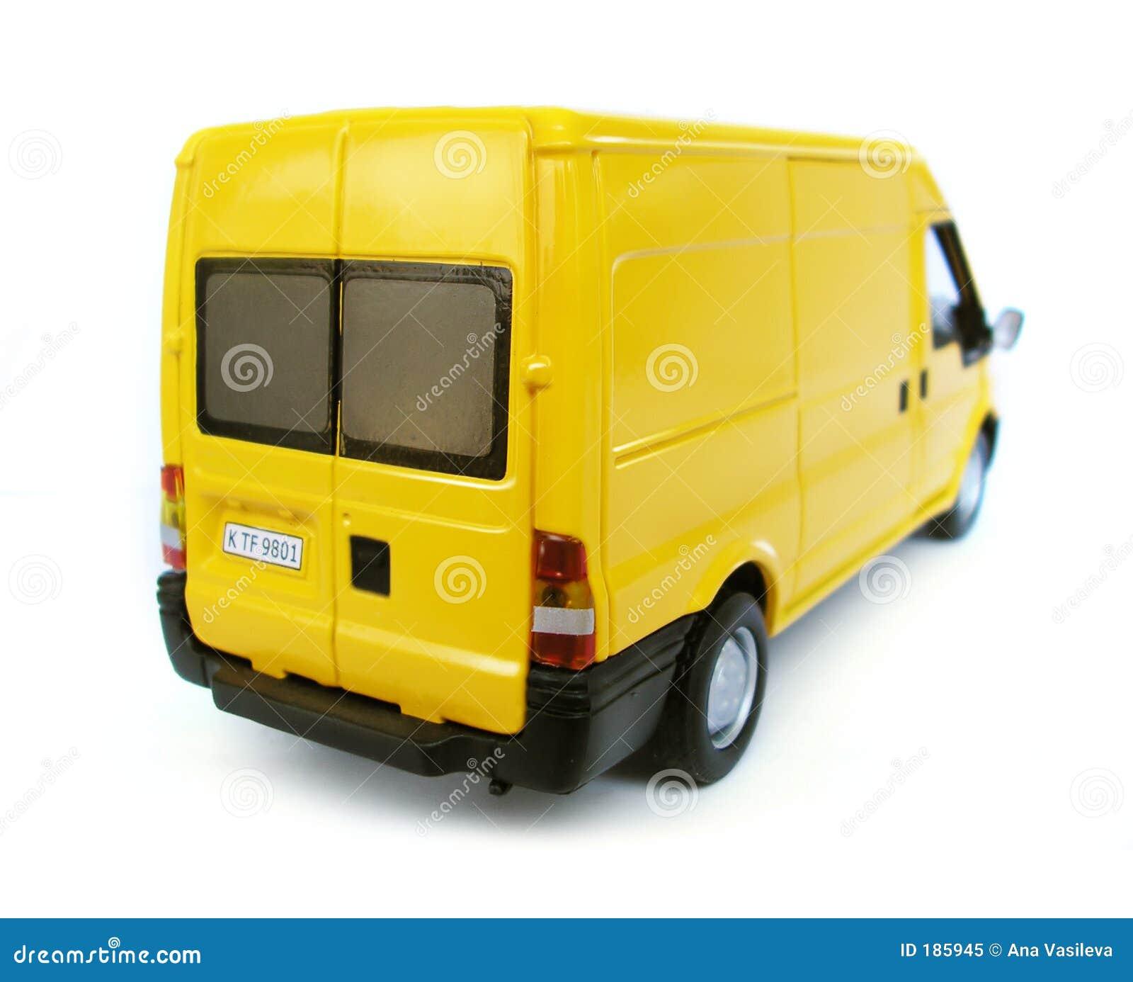 Véhicule modèle jaune - Van. Passe-temps, ramassage