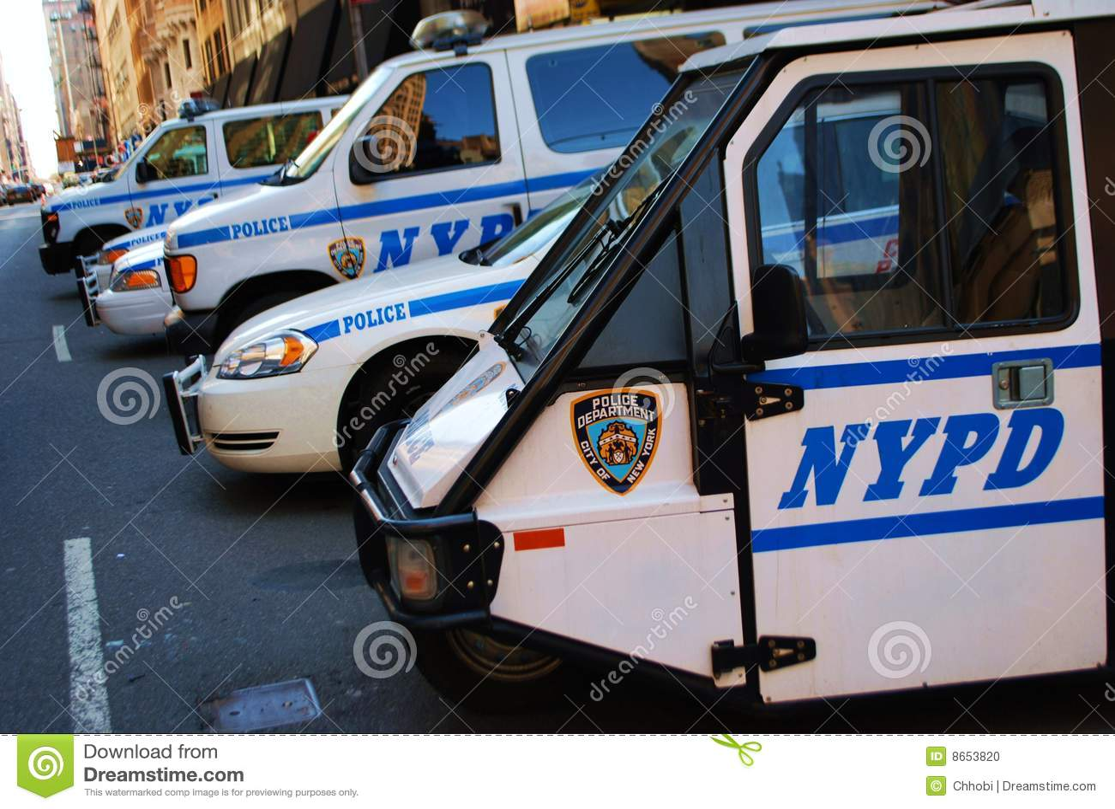 Véhicules de Département de Police de New York