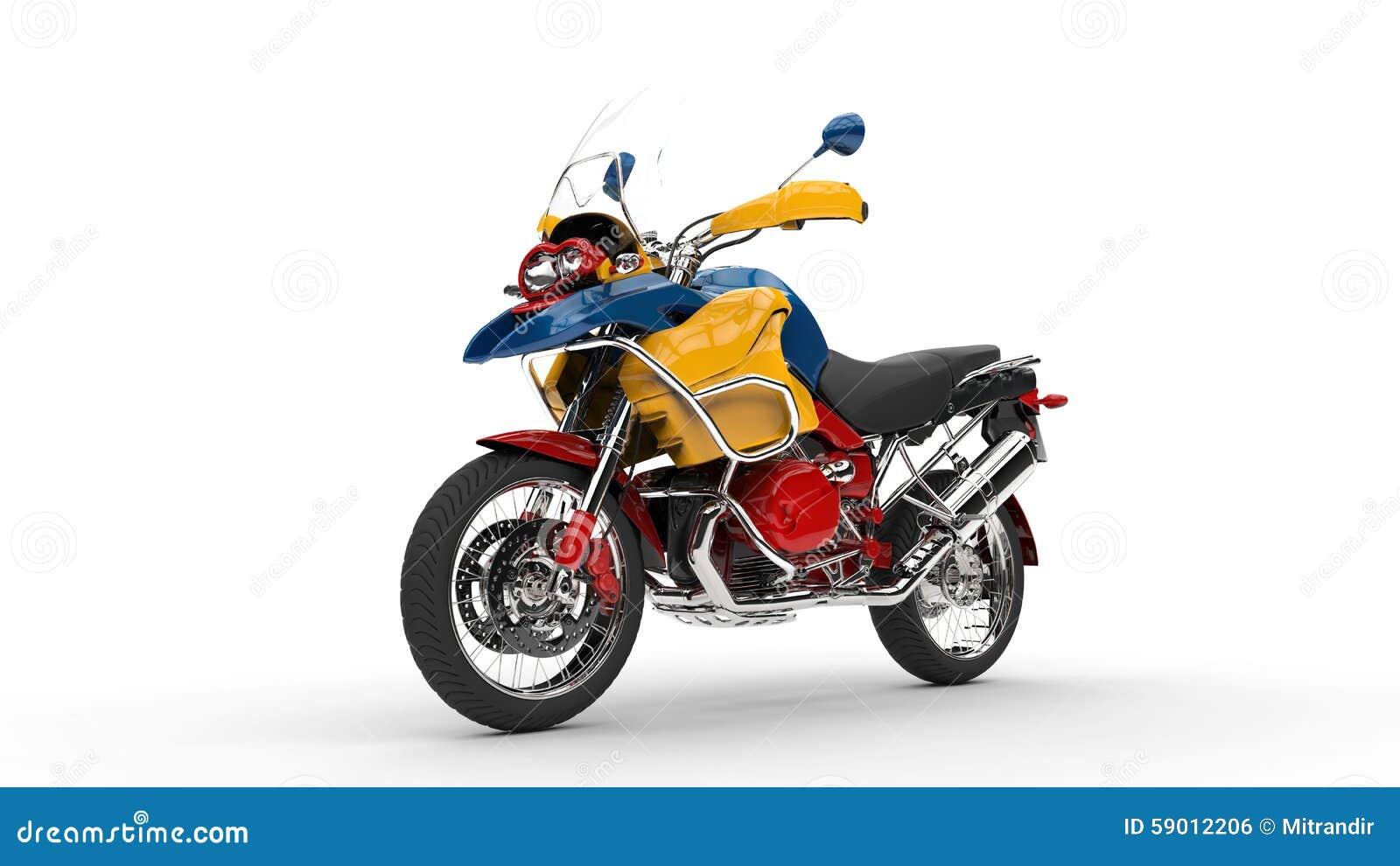 Vélo coloré Front View