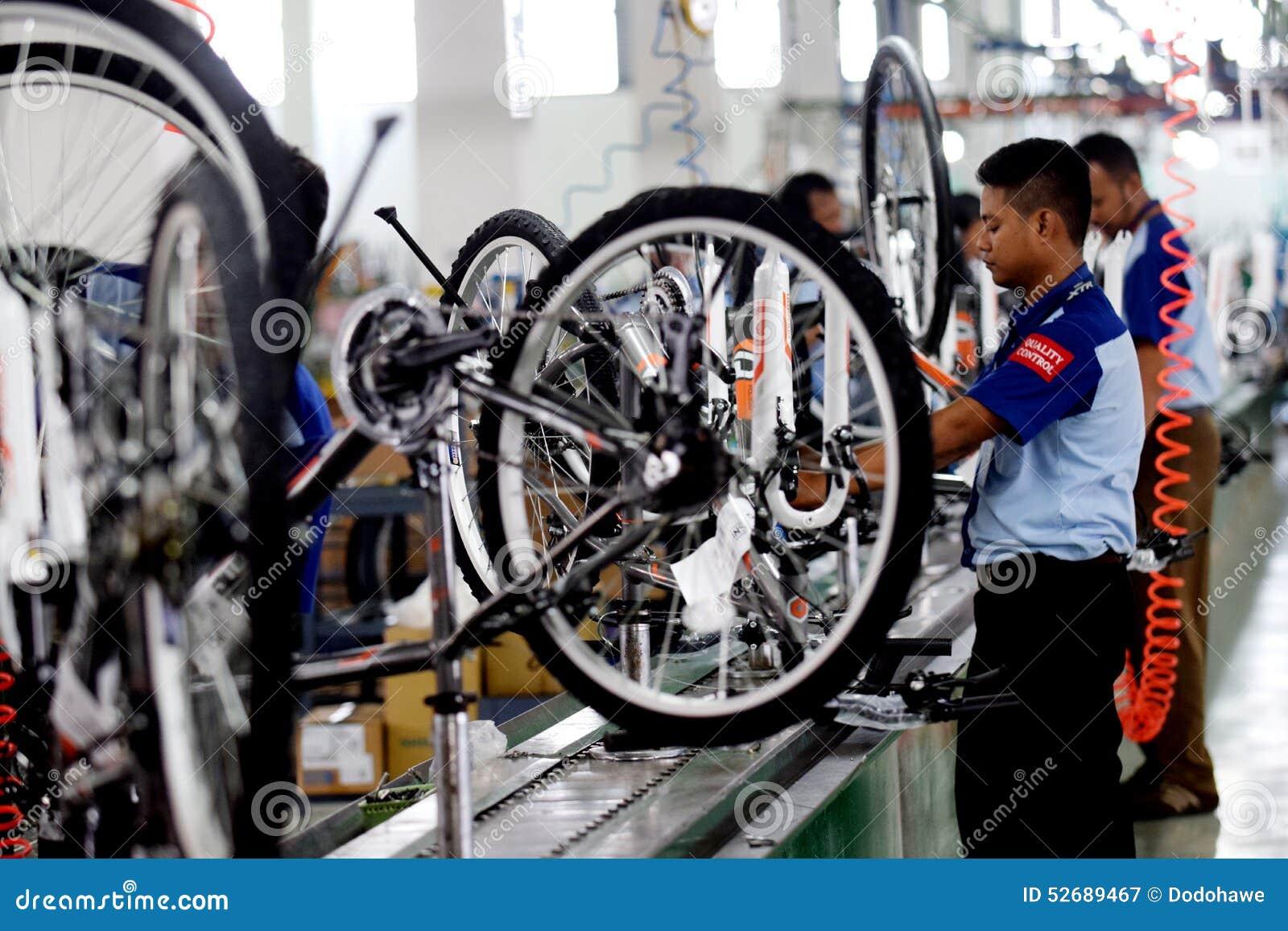 Vélo de bicyclette d Assemblée d Indonésie