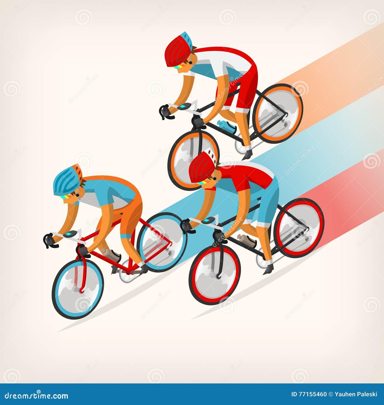 Vélo de monte de personnes à toute allure