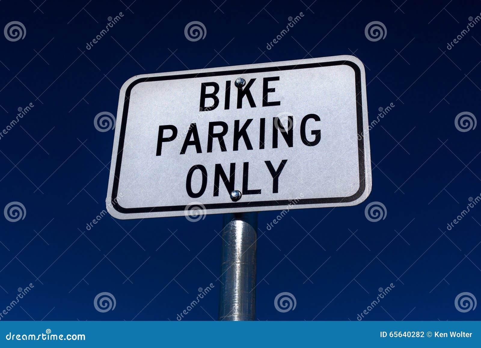 Vélo garant seulement le signe