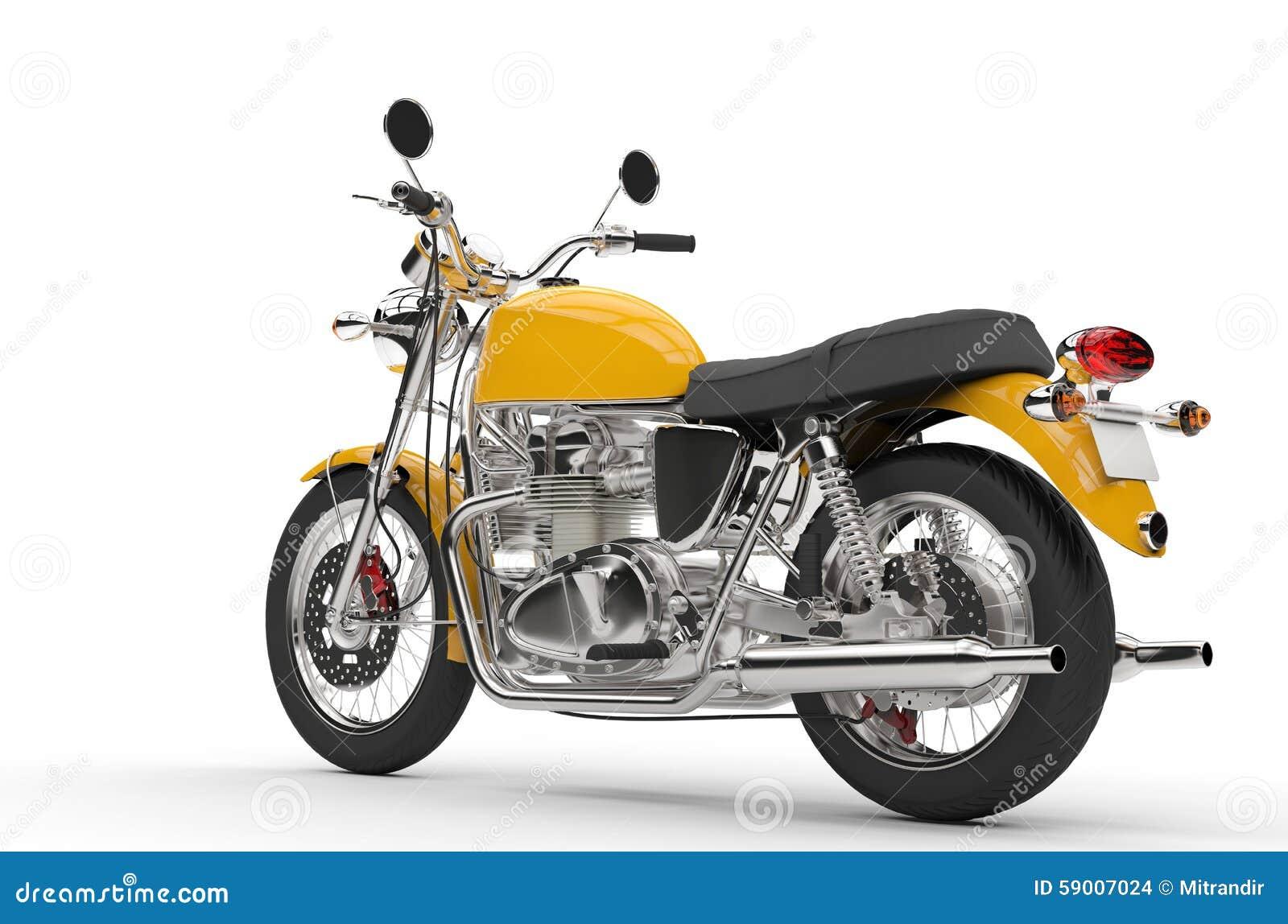 Vélo jaune frais - vue arrière
