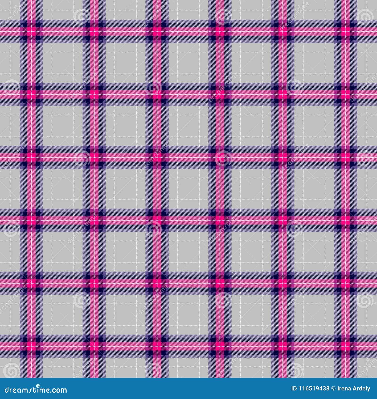 Couleur Gris Bleu Foncé vérifiez le fond sans couture de texture de tissu écossais