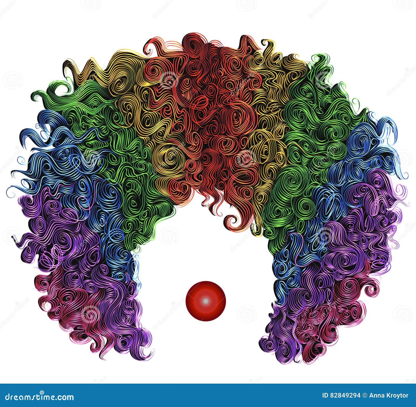 Vêtement drôle de cheveux colorés de perruque de clown