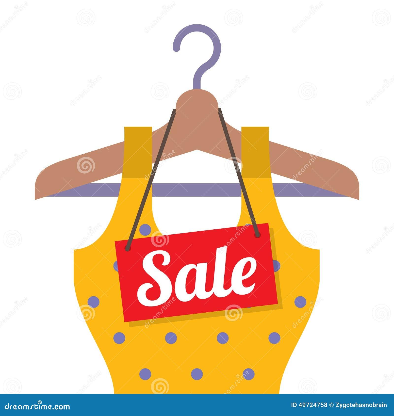 564bf38d34217 Vêtements De Femme Sur Le Cintre Avec L'étiquette De Vente ...