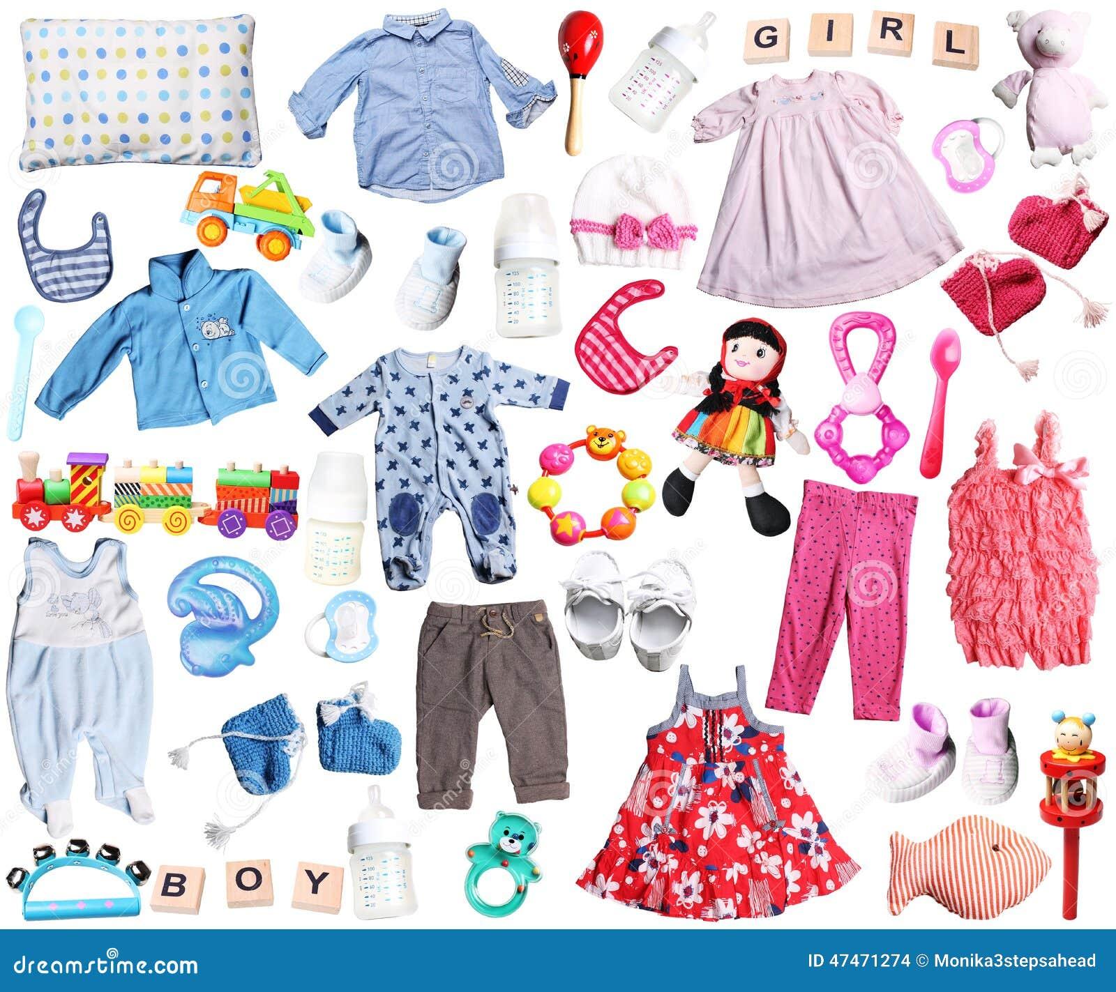 015e1f2a1c02e Vêtements Et Accessoires Pour Le Bébé Garçon Et La Fille Photo stock ...