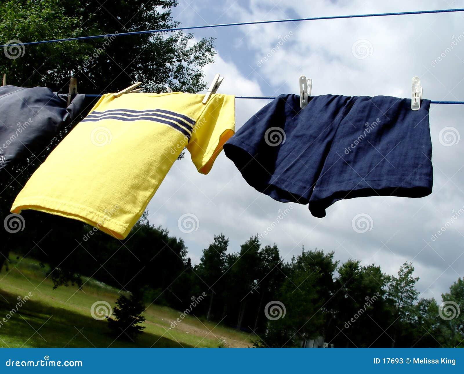 Vêtements sur la ligne