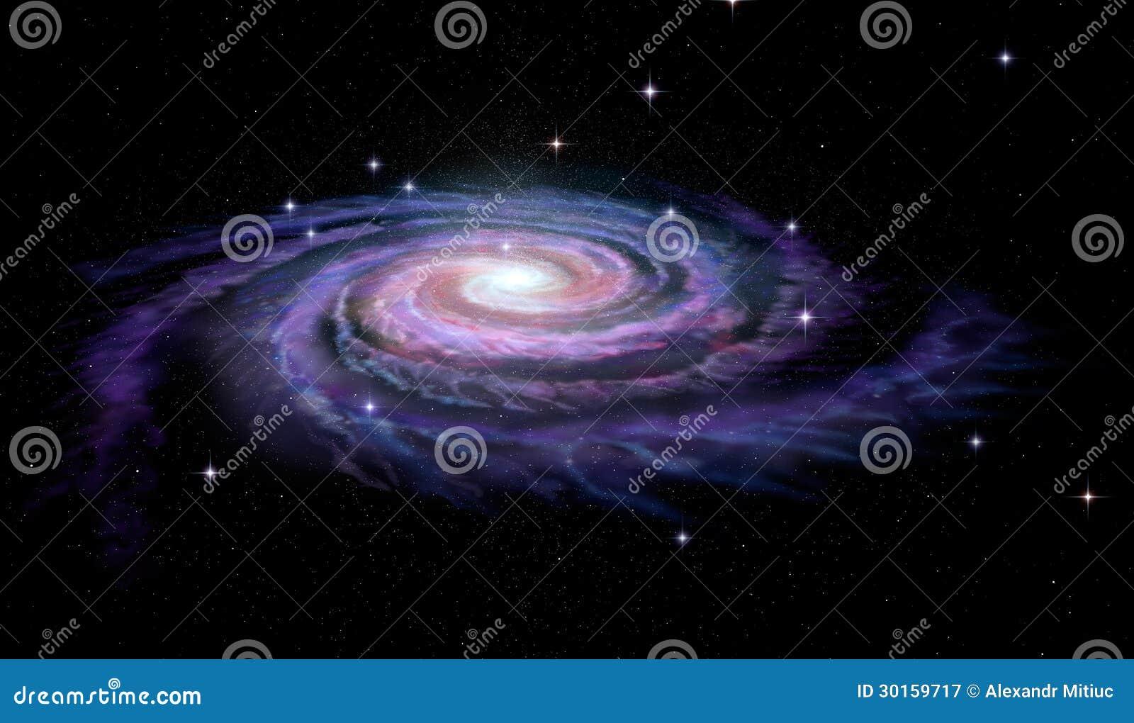 Vía láctea de la galaxia espiral