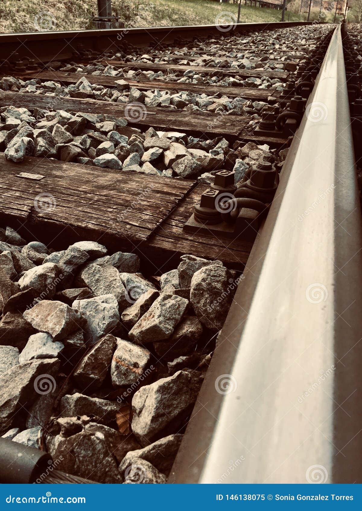 Vías infinitas del tren