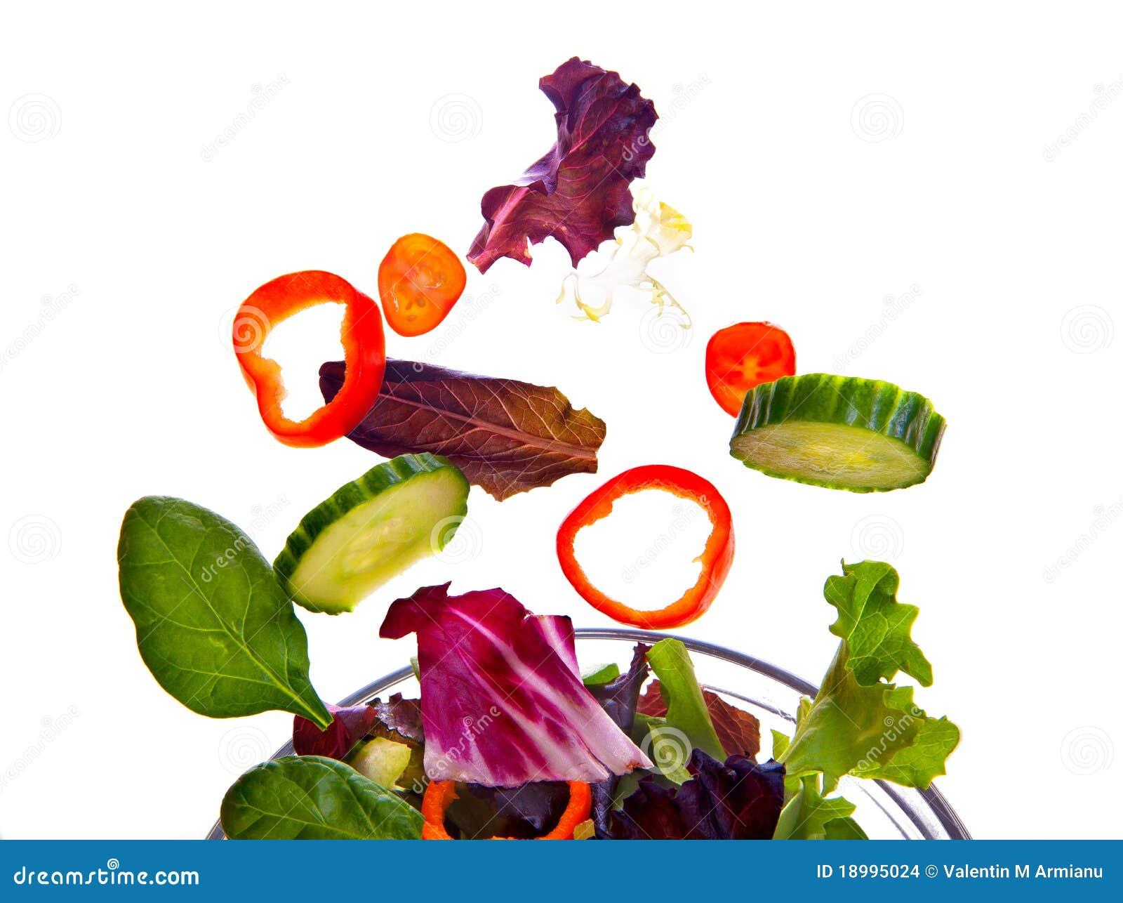 Vôo fresco da salada