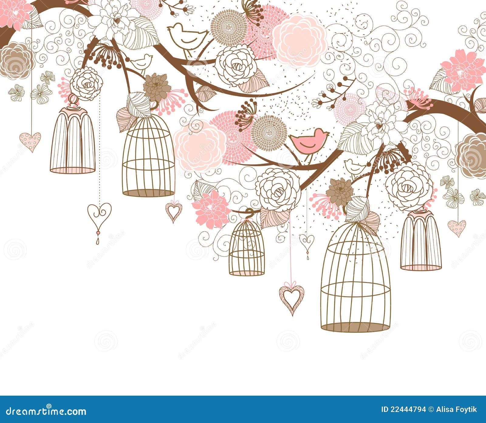 Vögel Aus Ihren Rahmen Heraus Stock Abbildung - Illustration von ...