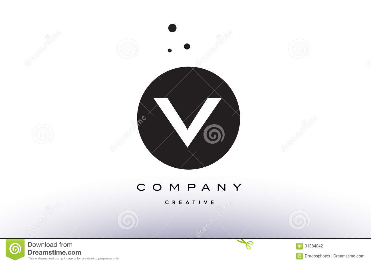 V alphabet letter logo icon simple black white circle dots stock v alphabet letter logo icon simple black white circle dots buycottarizona Image collections