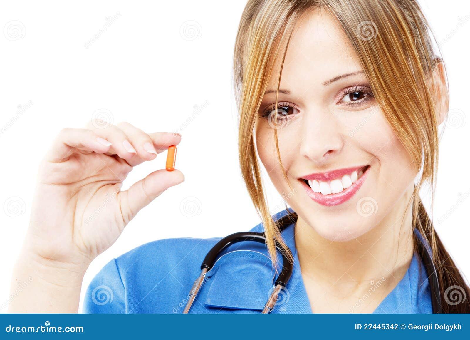 Vänlig sjuksköterskawhite för bakgrund