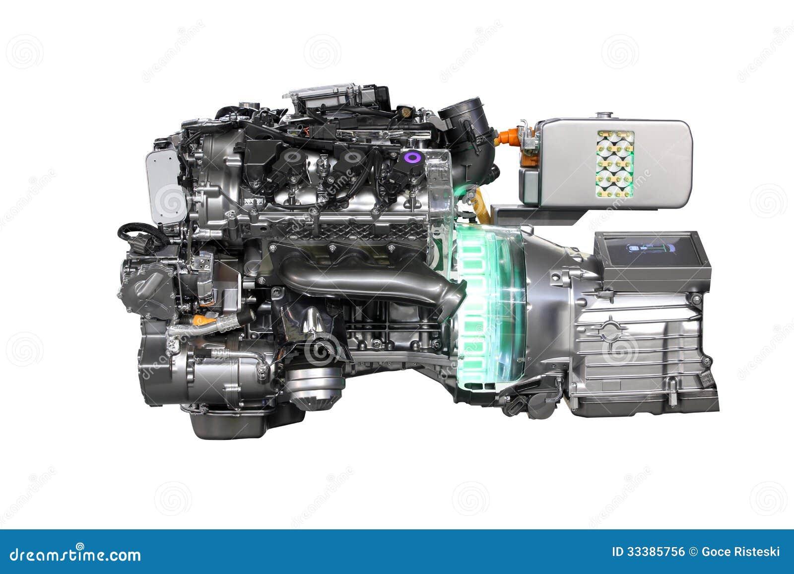 V6 Car Hybrid Engine Royalty Free Stock Image Image