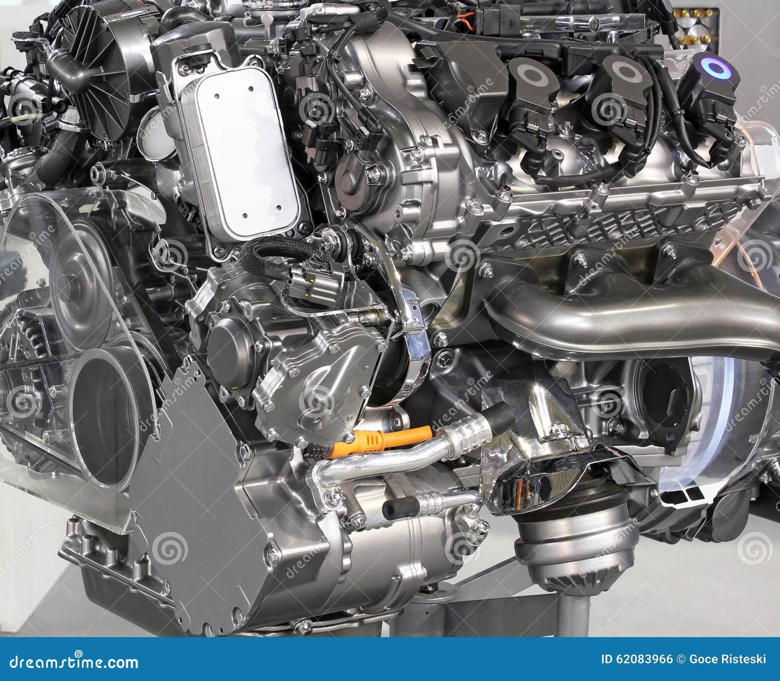 V6 Car Hybrid Engine Stock Photo Image 62083966