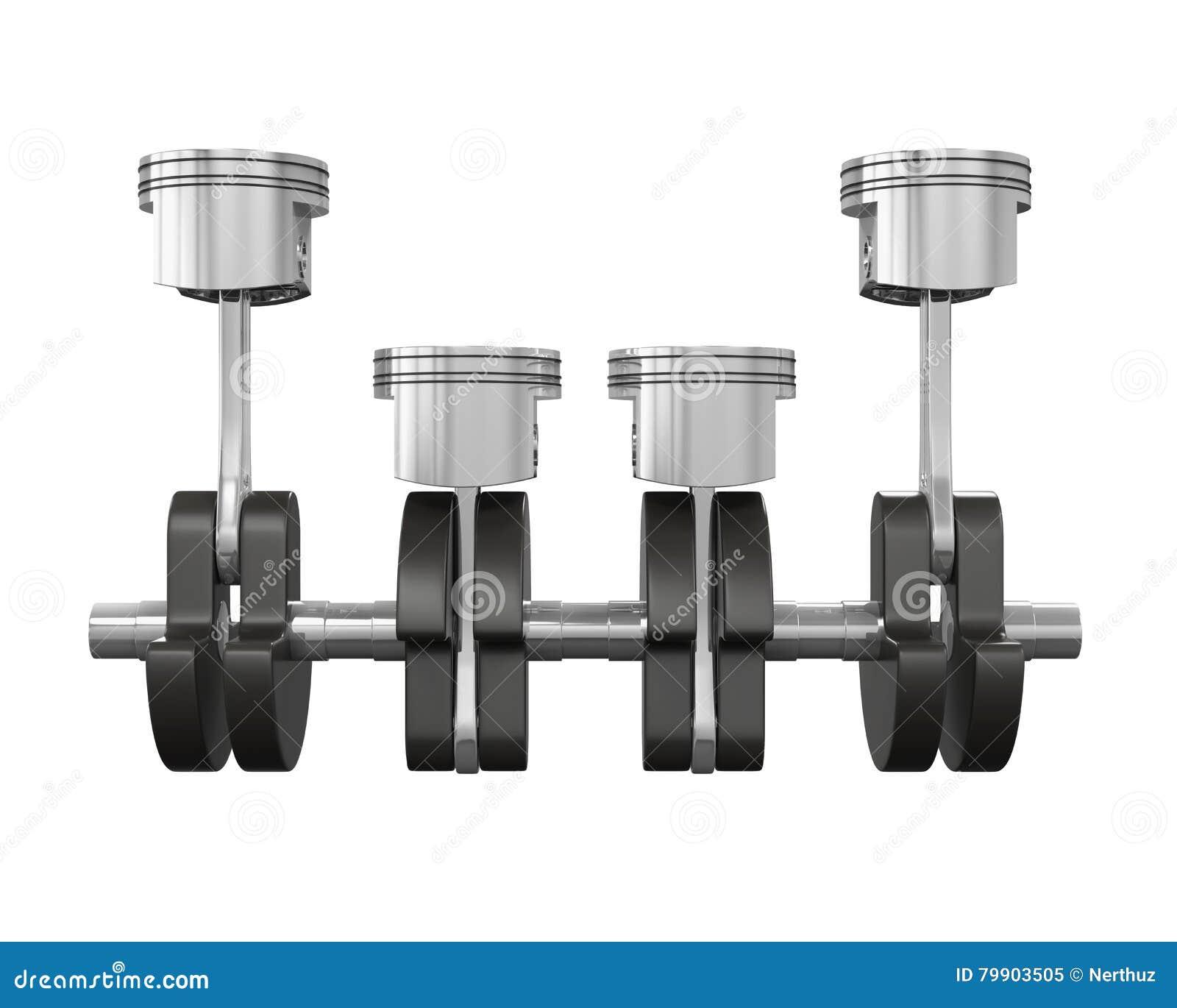 V4 Engine Pistons Stock Illustration Of Crank 79903505 Diagram Auto Piston
