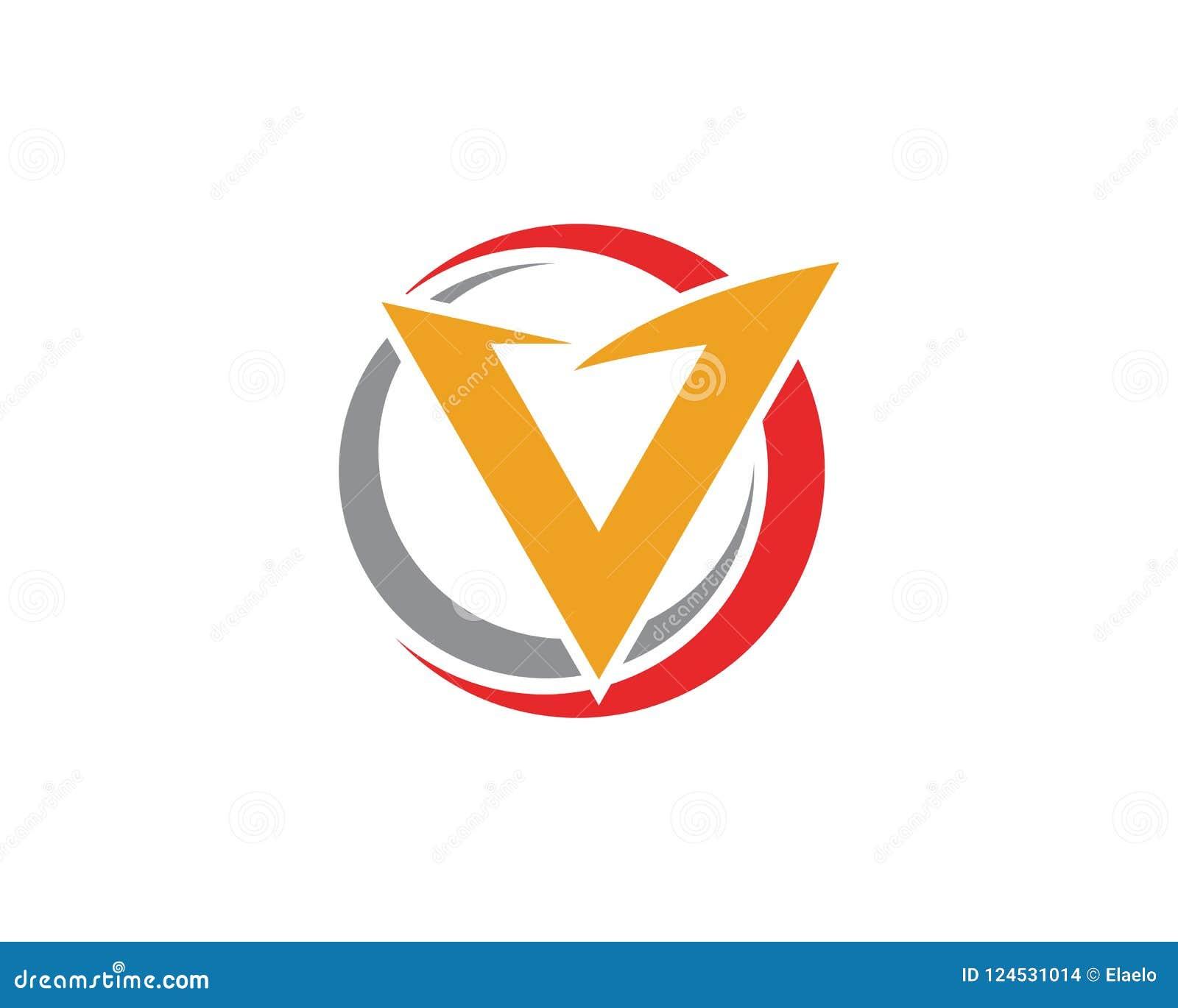 V Letter Lightning Logo Template Stock Vector Illustration Of