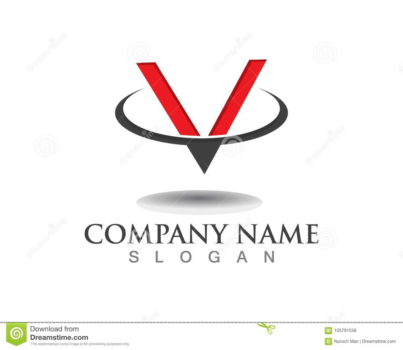 V Letter Logo Business Template Vector Icon Stock Vector