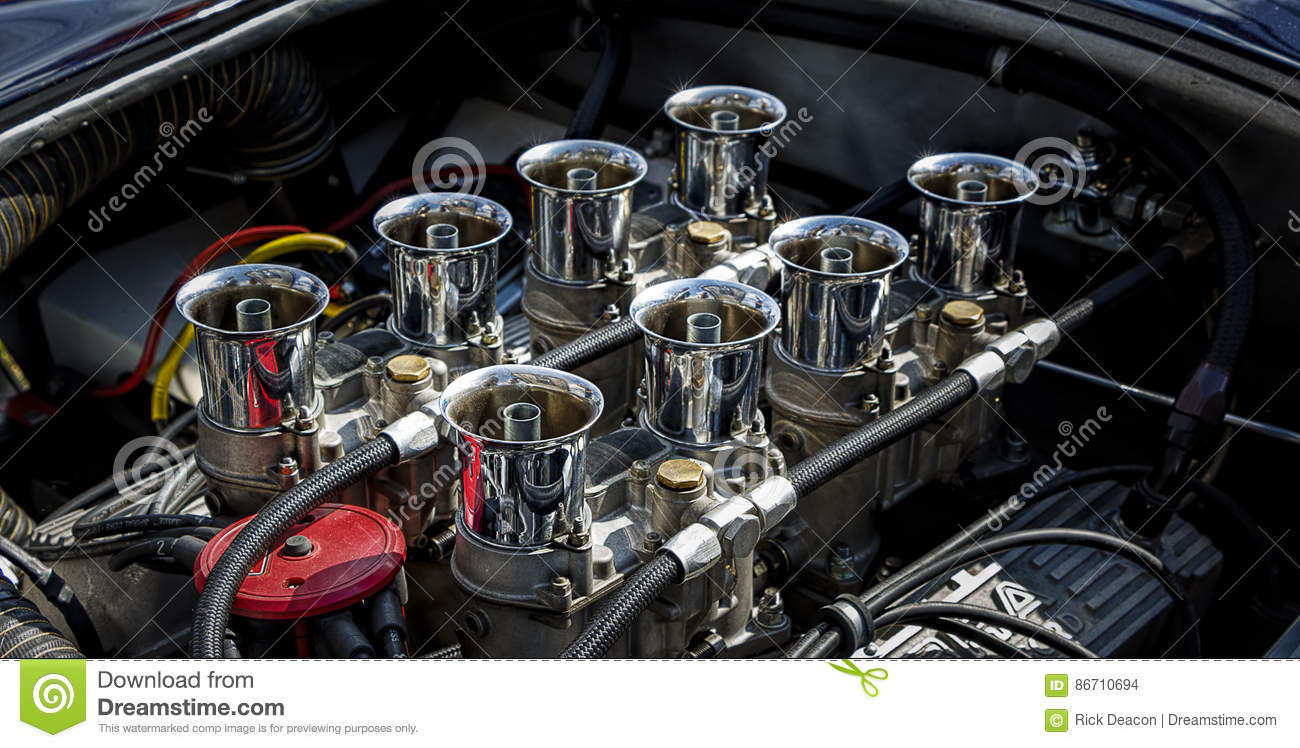 V8 Muscle Car Engine Stock Photo Image Of Powered Compartment