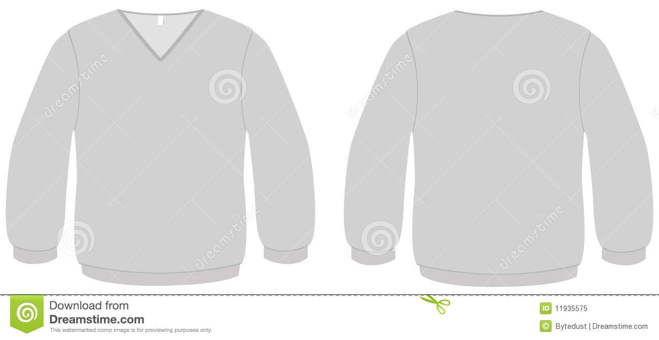 neck sweater template vector illustration royalty free stock photo