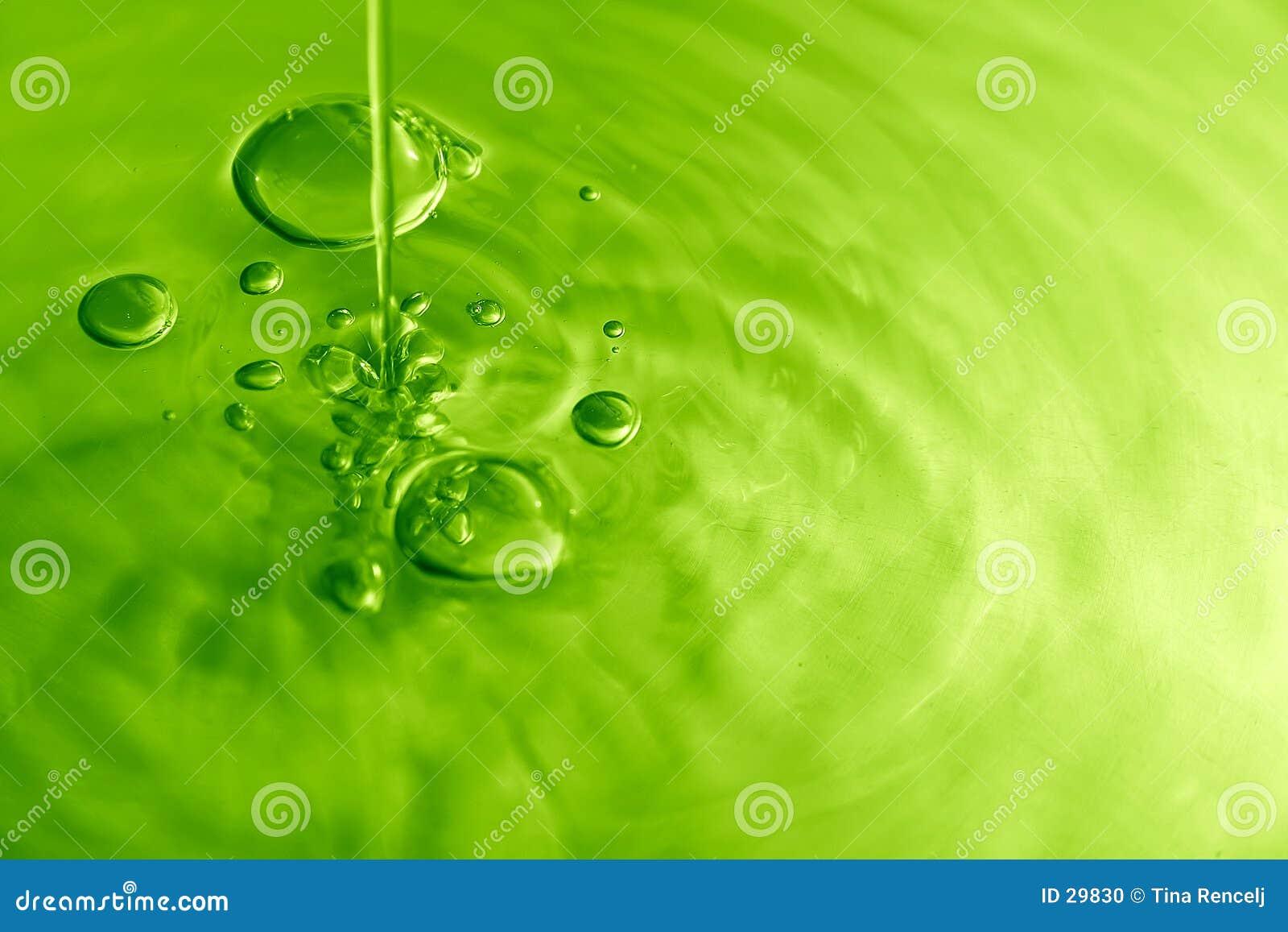 V pęcherzyków wodą