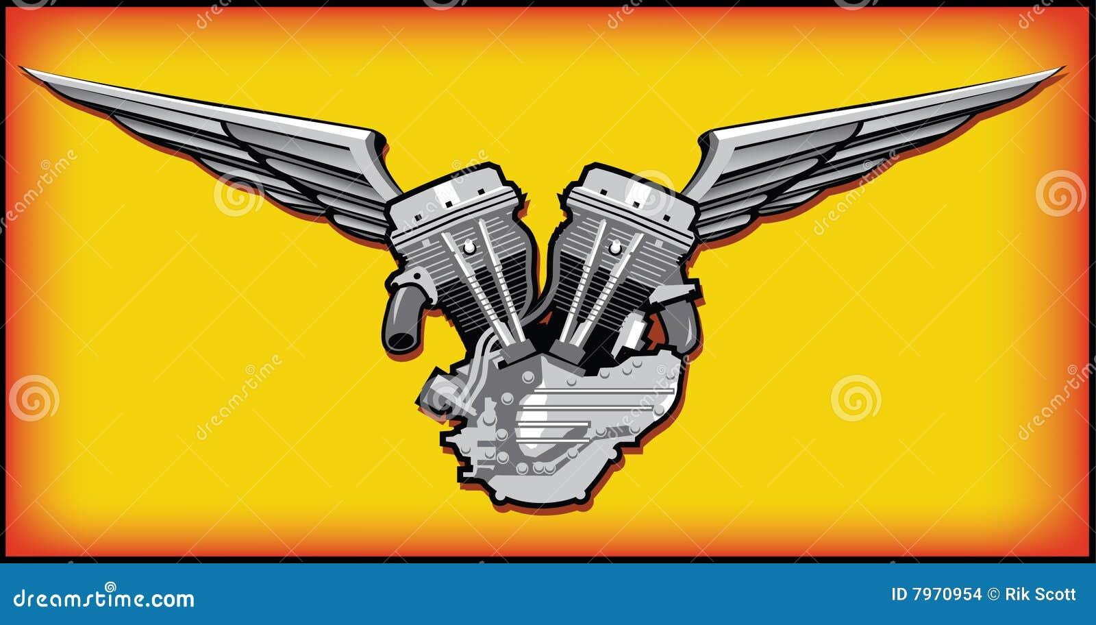 V Twin Motor stock vector. Illustration of automotive ...