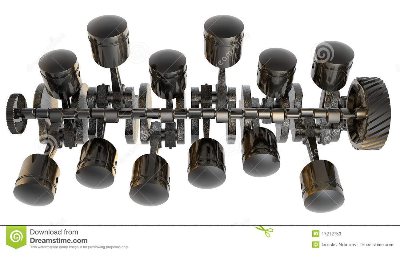 V12 internal combustion engine 3d stock photos image for Chambre de combustion moteur